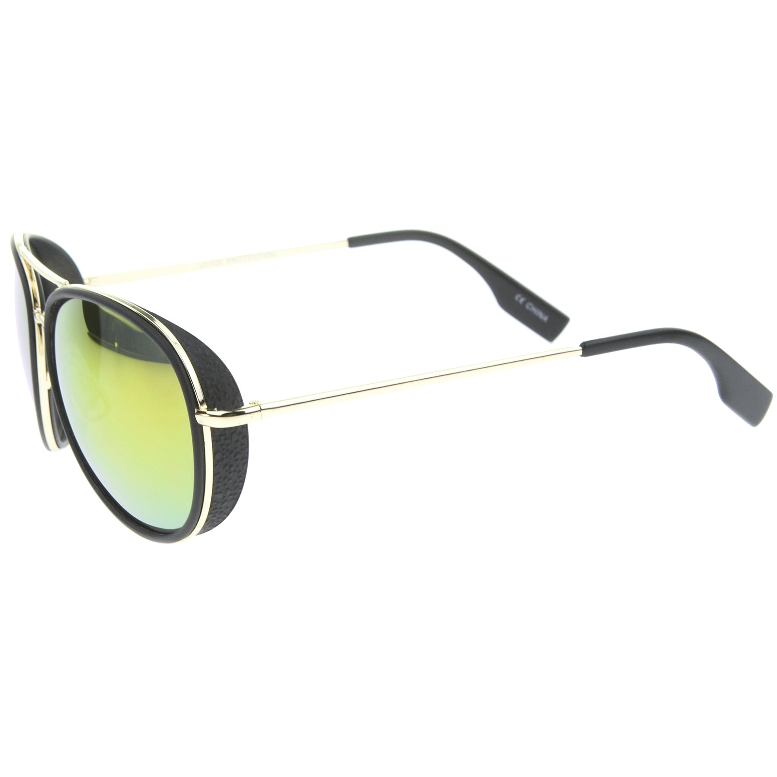 Mens Aviator Sunglasses With UV400 Protected Mirrored Lens - sunglass.la - 3