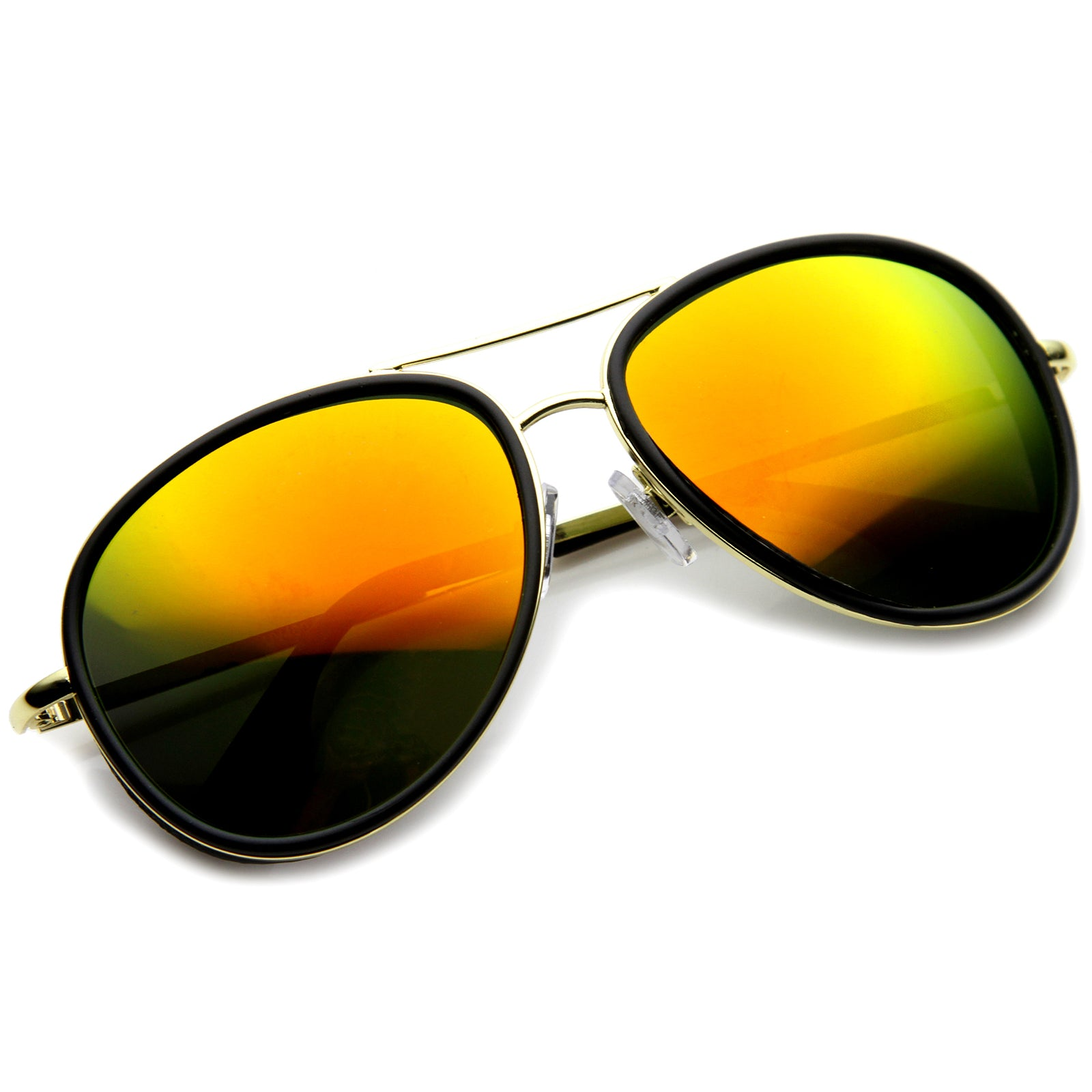 Mens Aviator Sunglasses With UV400 Protected Mirrored Lens - sunglass.la - 4