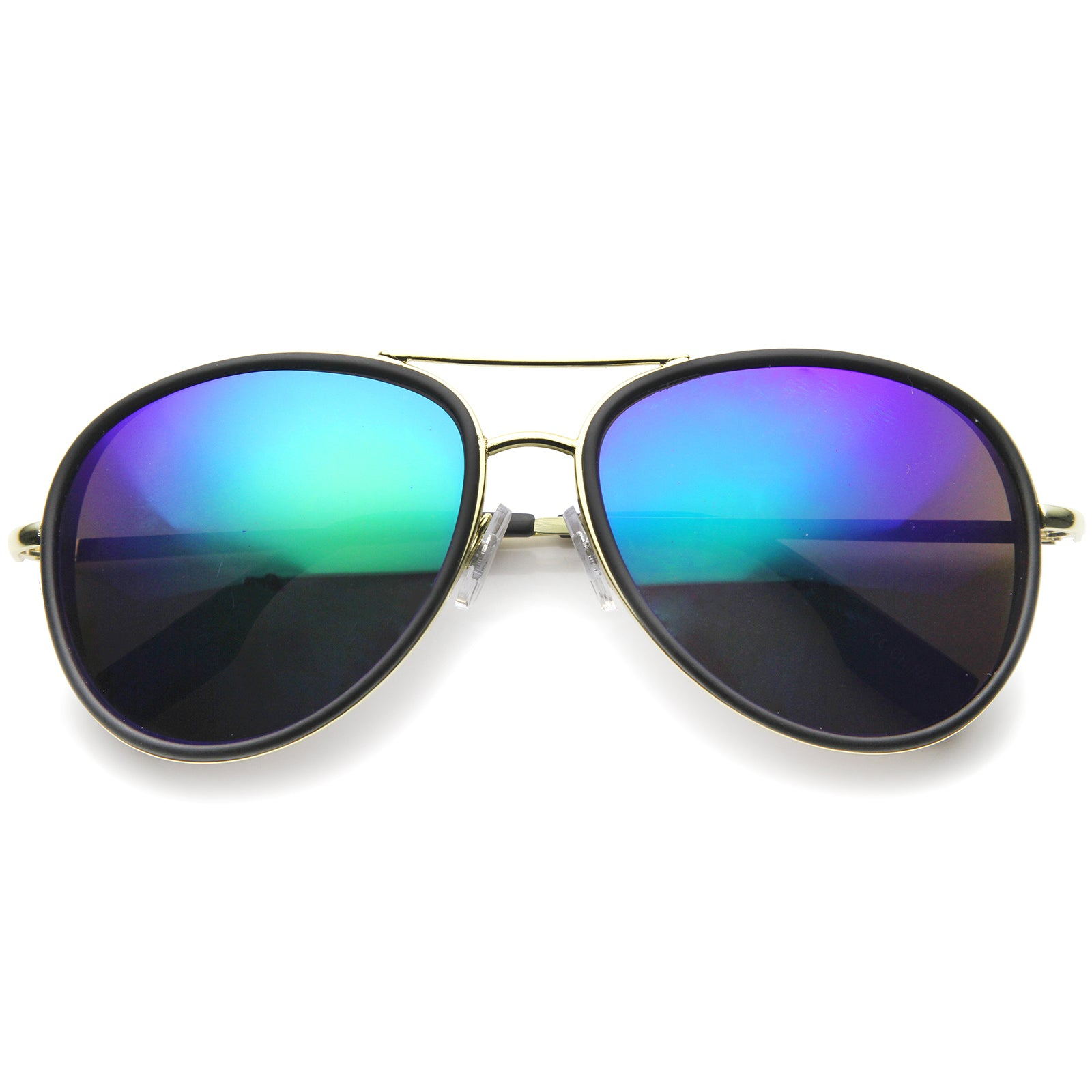 Mens Aviator Sunglasses With UV400 Protected Mirrored Lens - sunglass.la - 5