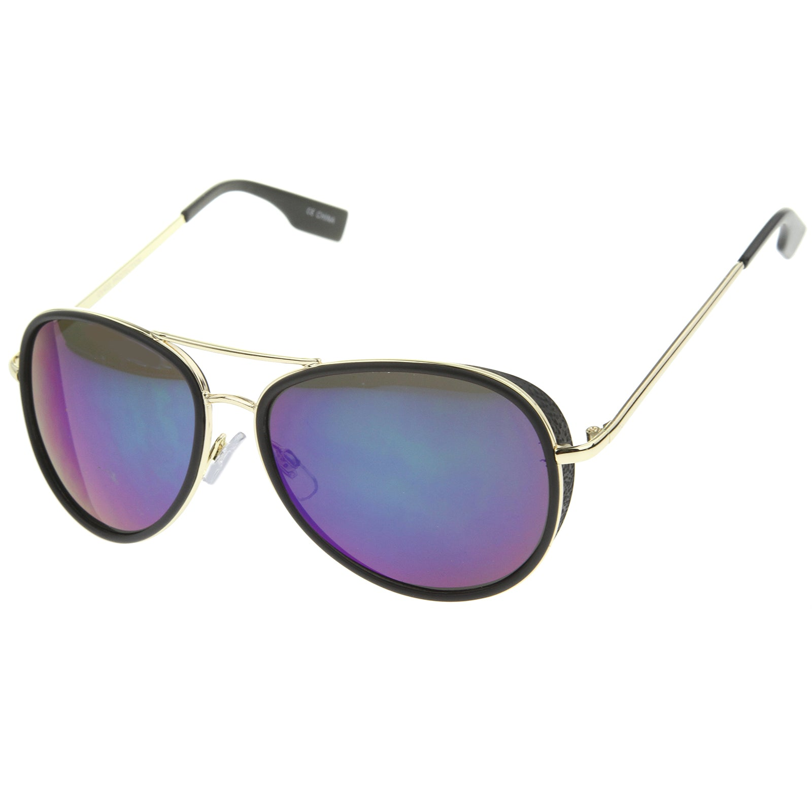 Mens Aviator Sunglasses With UV400 Protected Mirrored Lens - sunglass.la - 6