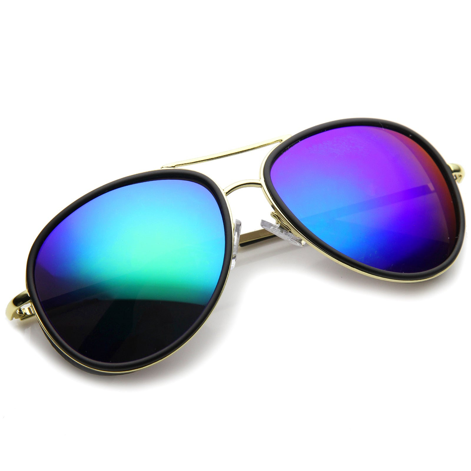Mens Aviator Sunglasses With UV400 Protected Mirrored Lens - sunglass.la - 8