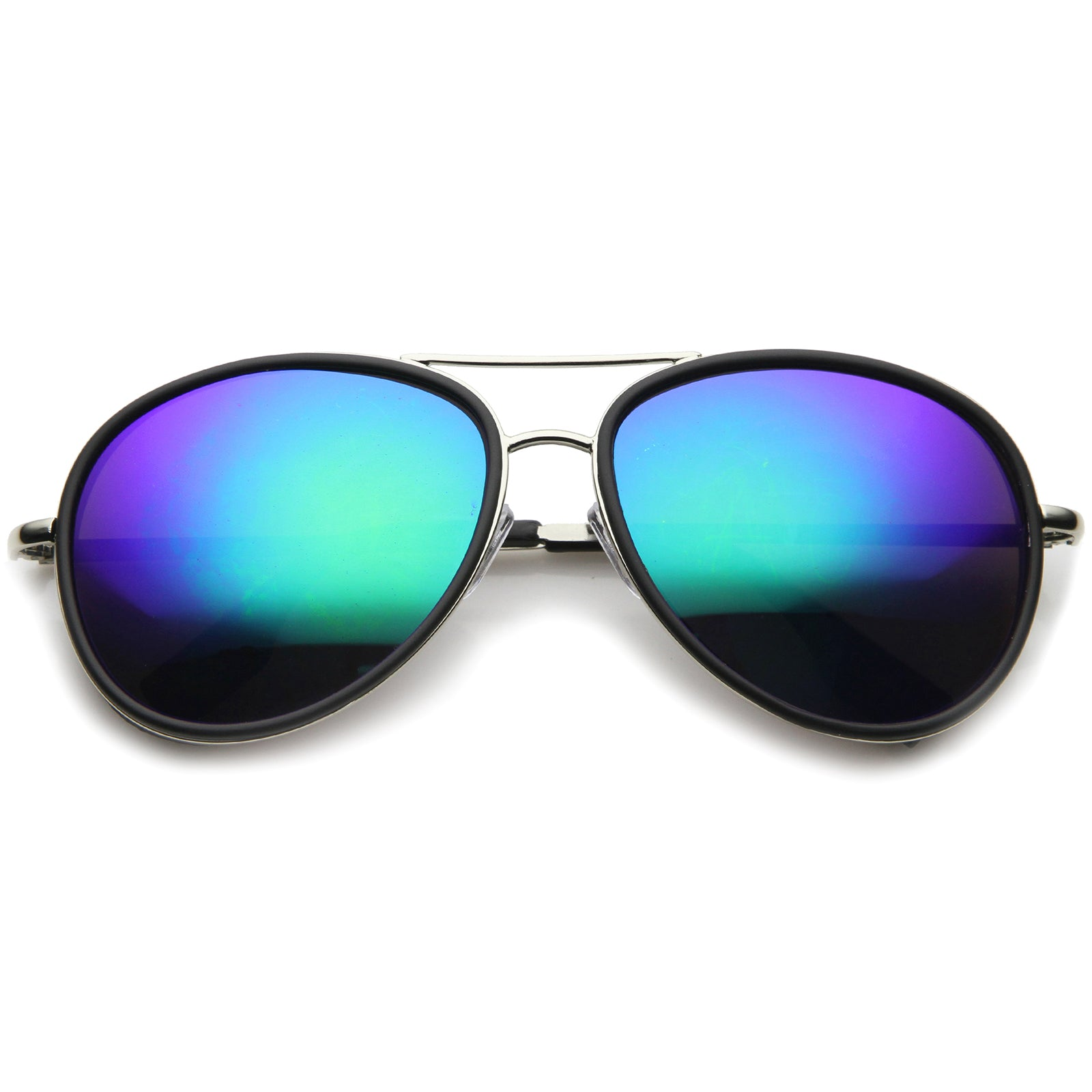 Mens Aviator Sunglasses With UV400 Protected Mirrored Lens - sunglass.la - 9