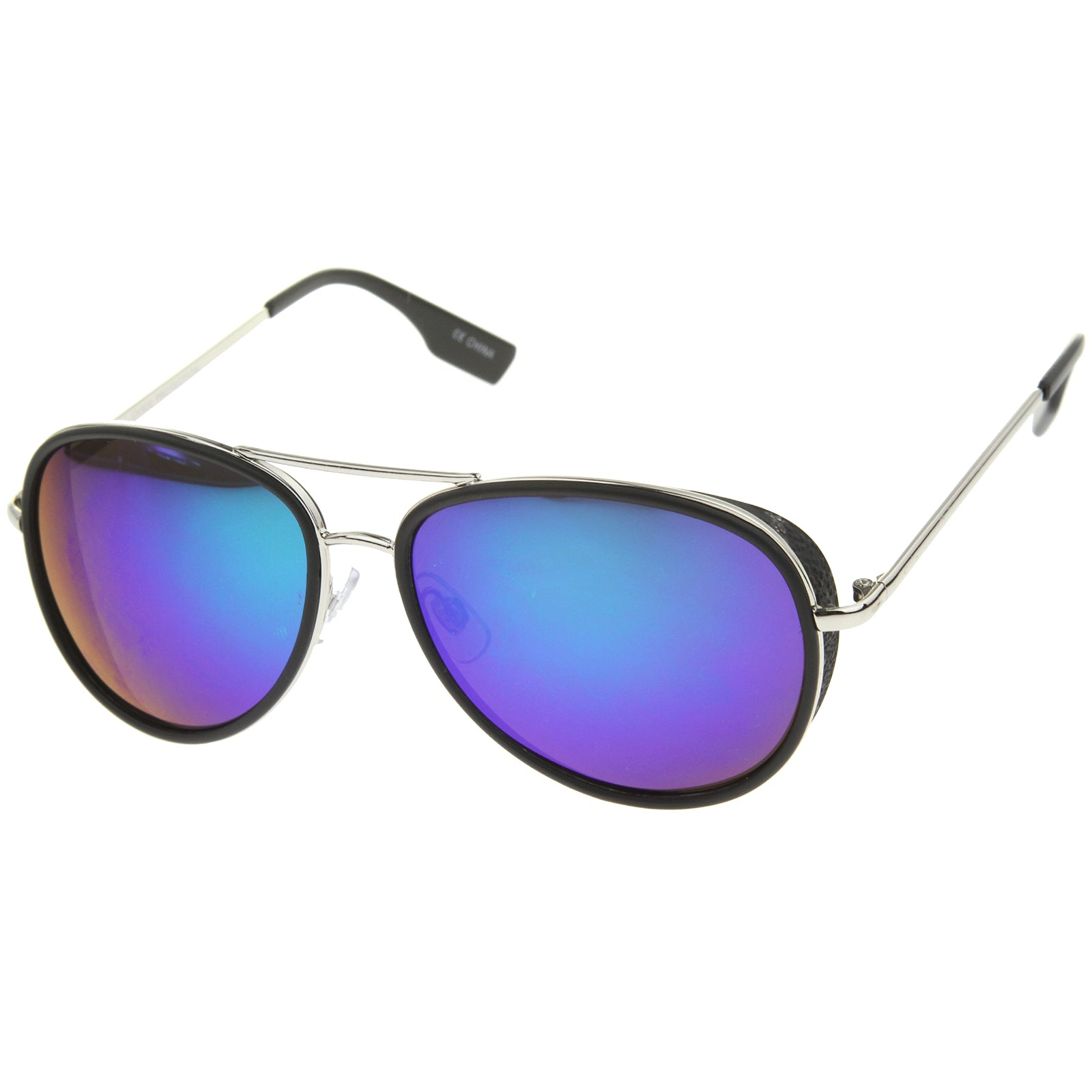 Mens Aviator Sunglasses With UV400 Protected Mirrored Lens - sunglass.la - 10