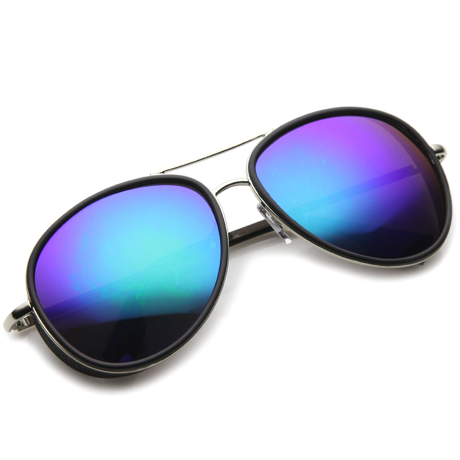 Mens Aviator Sunglasses With UV400 Protected Mirrored Lens - sunglass.la - 12