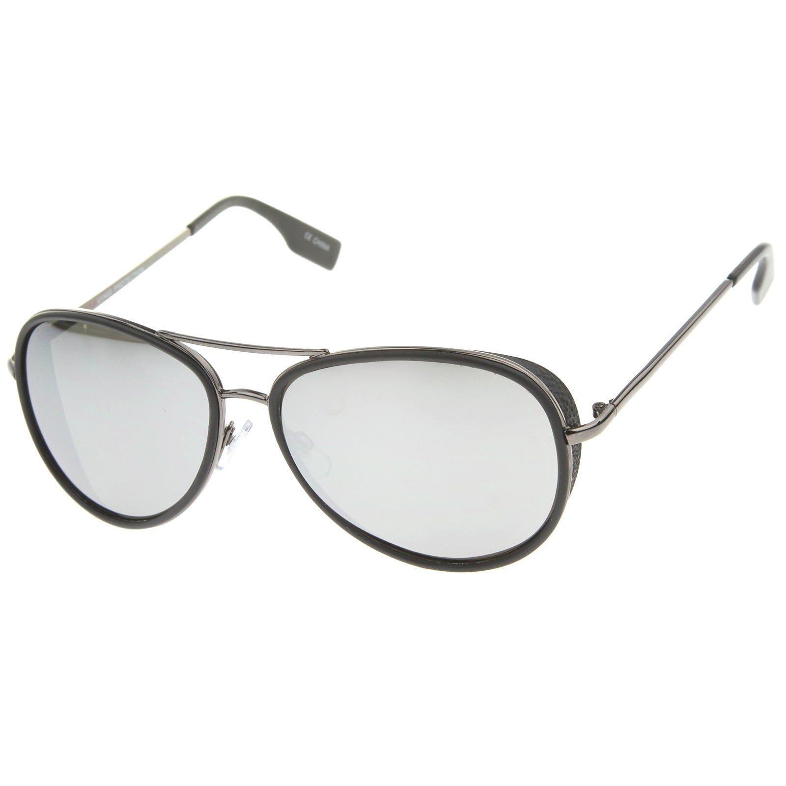 Mens Aviator Sunglasses With UV400 Protected Mirrored Lens - sunglass.la - 14