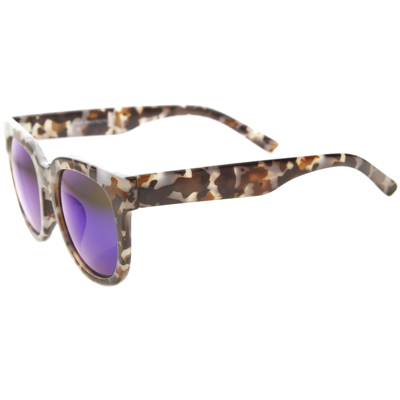 Womens Cat Eye Sunglasses With UV400 Protected Mirrored Lens - sunglass.la - 3