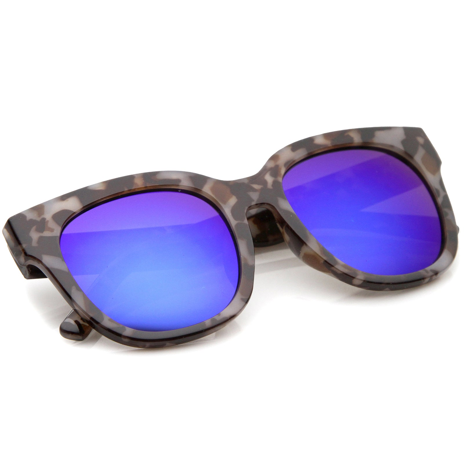 Womens Cat Eye Sunglasses With UV400 Protected Mirrored Lens - sunglass.la - 4
