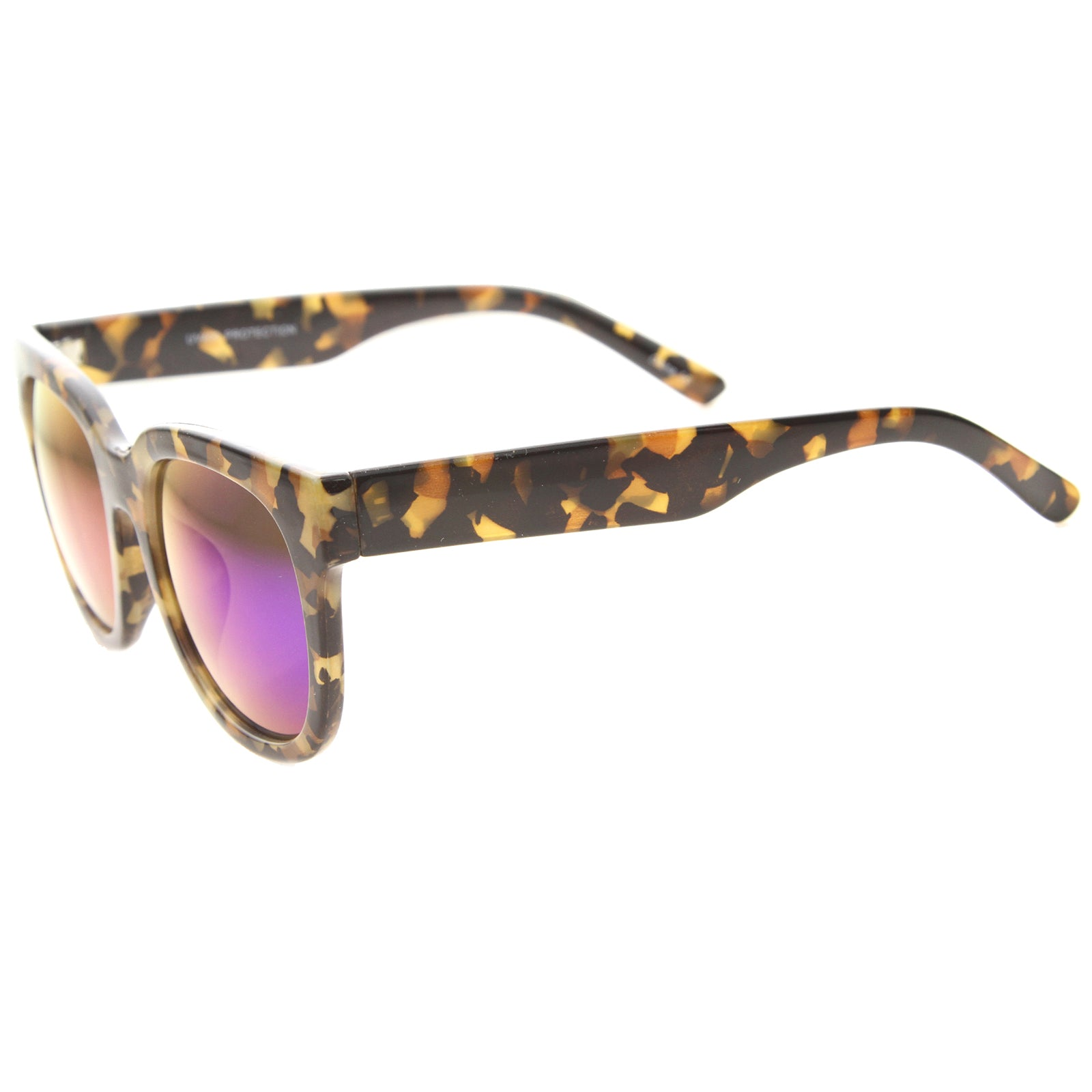 Womens Cat Eye Sunglasses With UV400 Protected Mirrored Lens - sunglass.la - 7