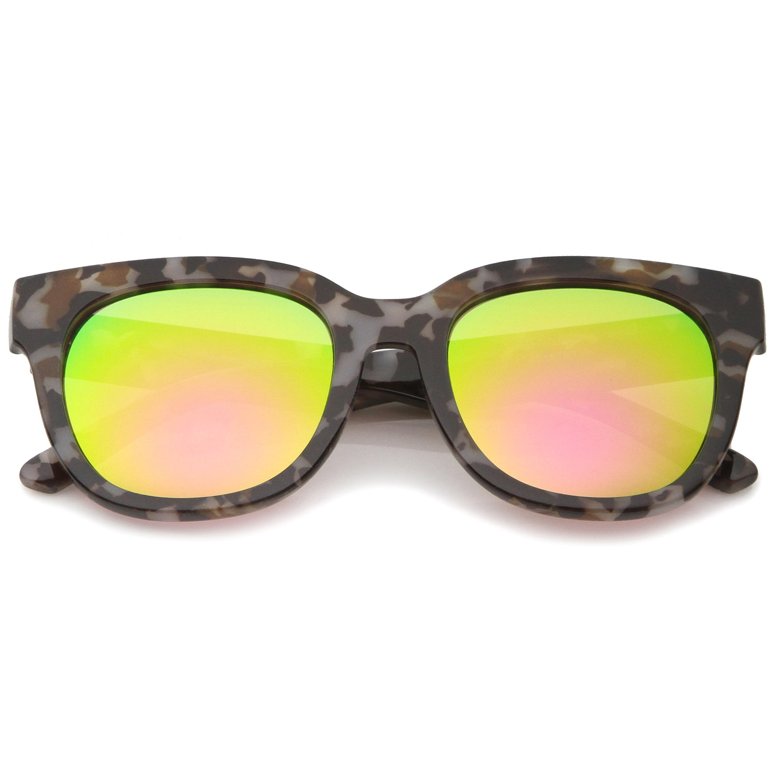 f3a1f1534 Womens Cat Eye Sunglasses With UV400 Protected Mirrored Lens ...