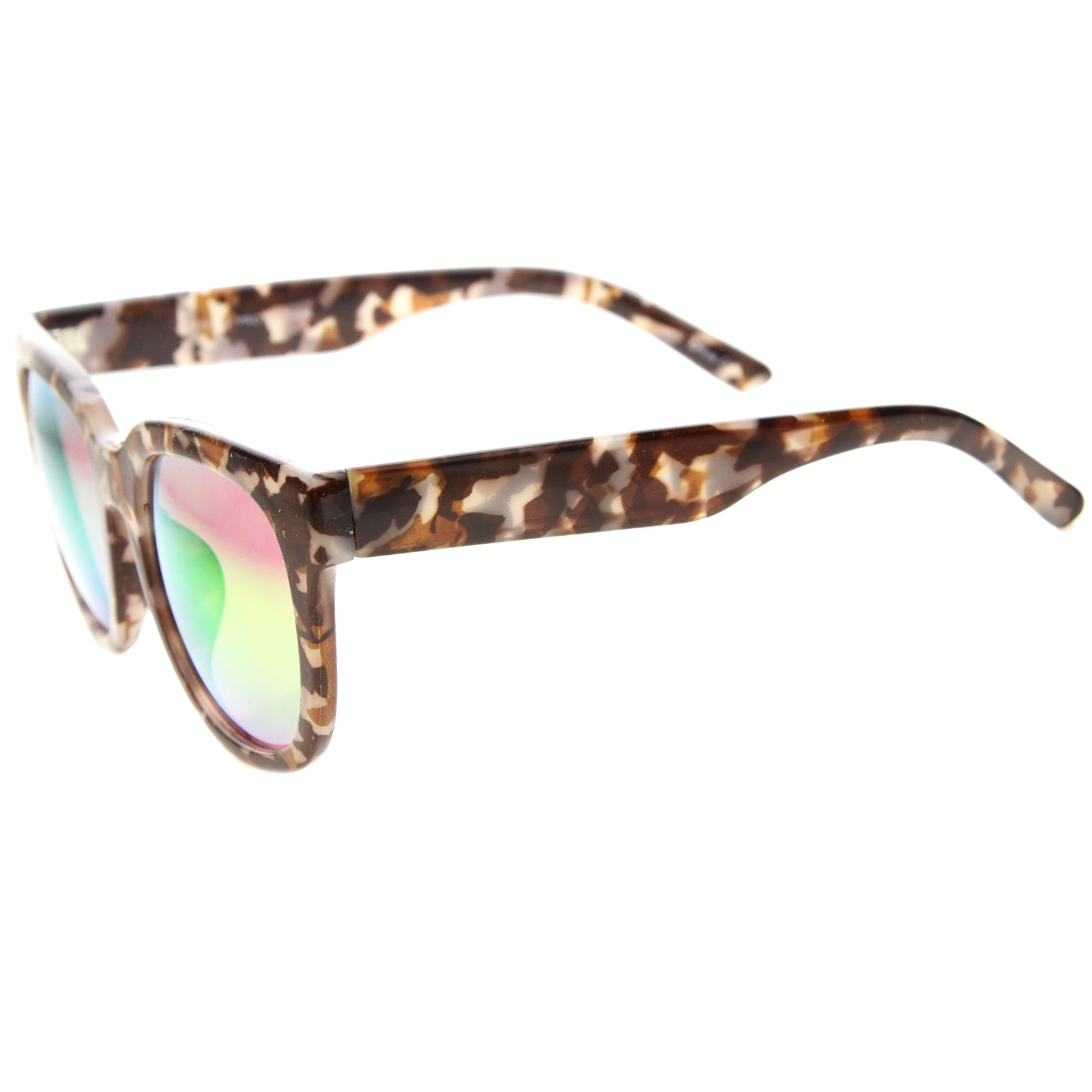 Womens Cat Eye Sunglasses With UV400 Protected Mirrored Lens - sunglass.la - 11