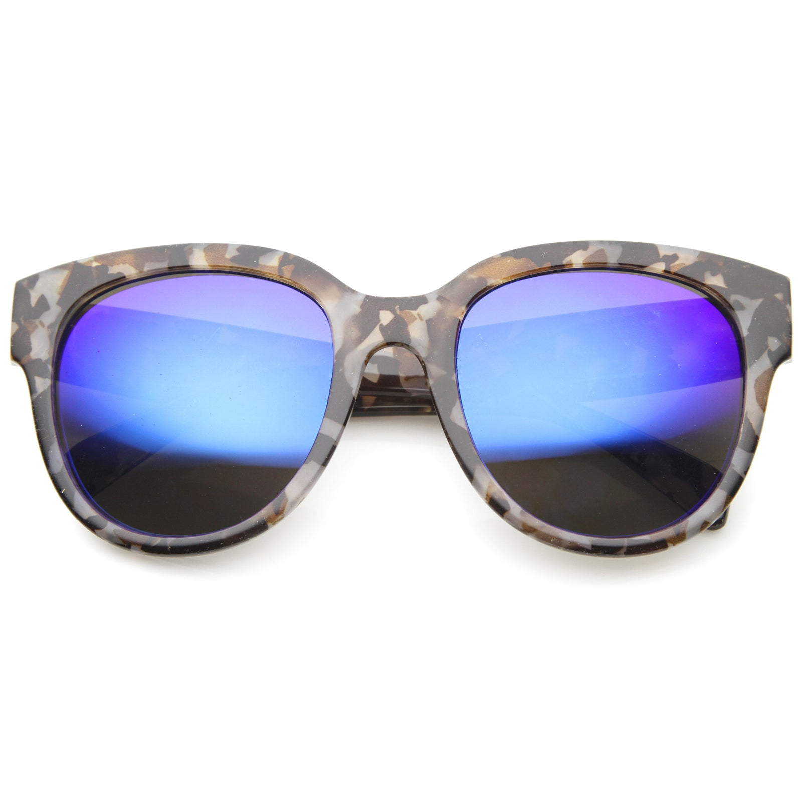 Womens Cat Eye Sunglasses With UV400 Protected Mirrored Lens - sunglass.la - 1