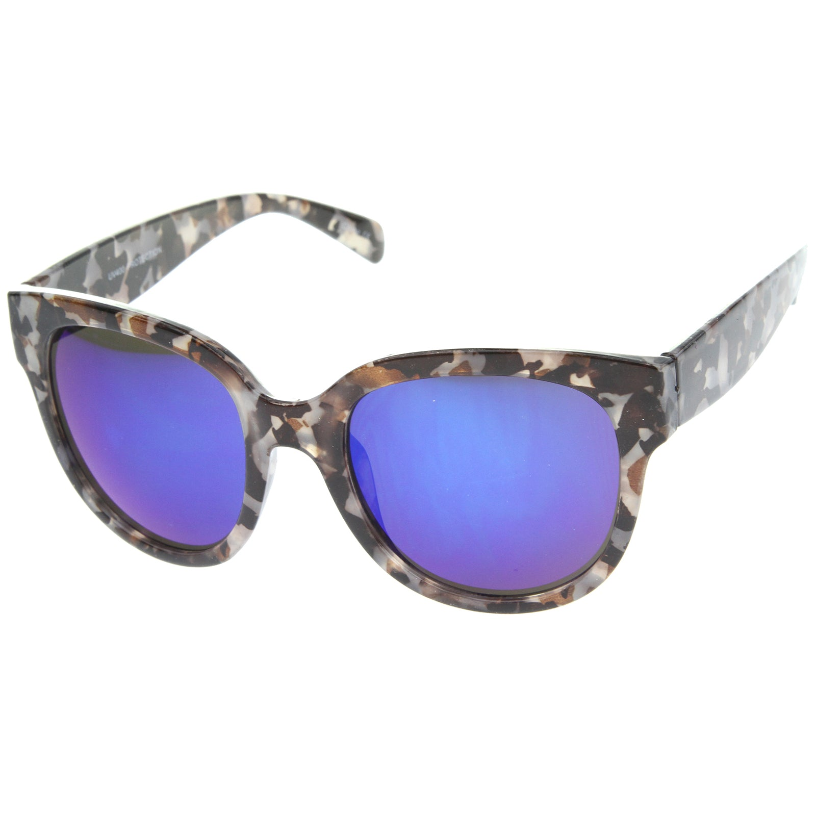 Womens Cat Eye Sunglasses With UV400 Protected Mirrored Lens - sunglass.la - 2