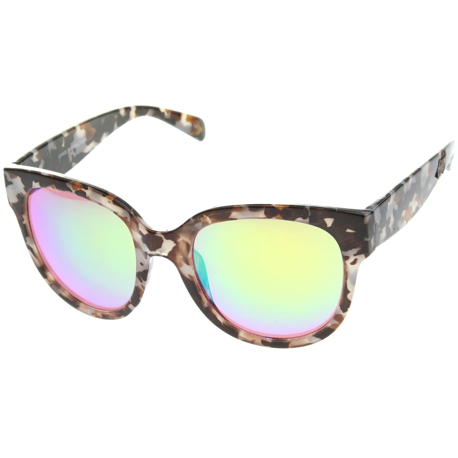 Womens Cat Eye Sunglasses With UV400 Protected Mirrored Lens - sunglass.la - 6