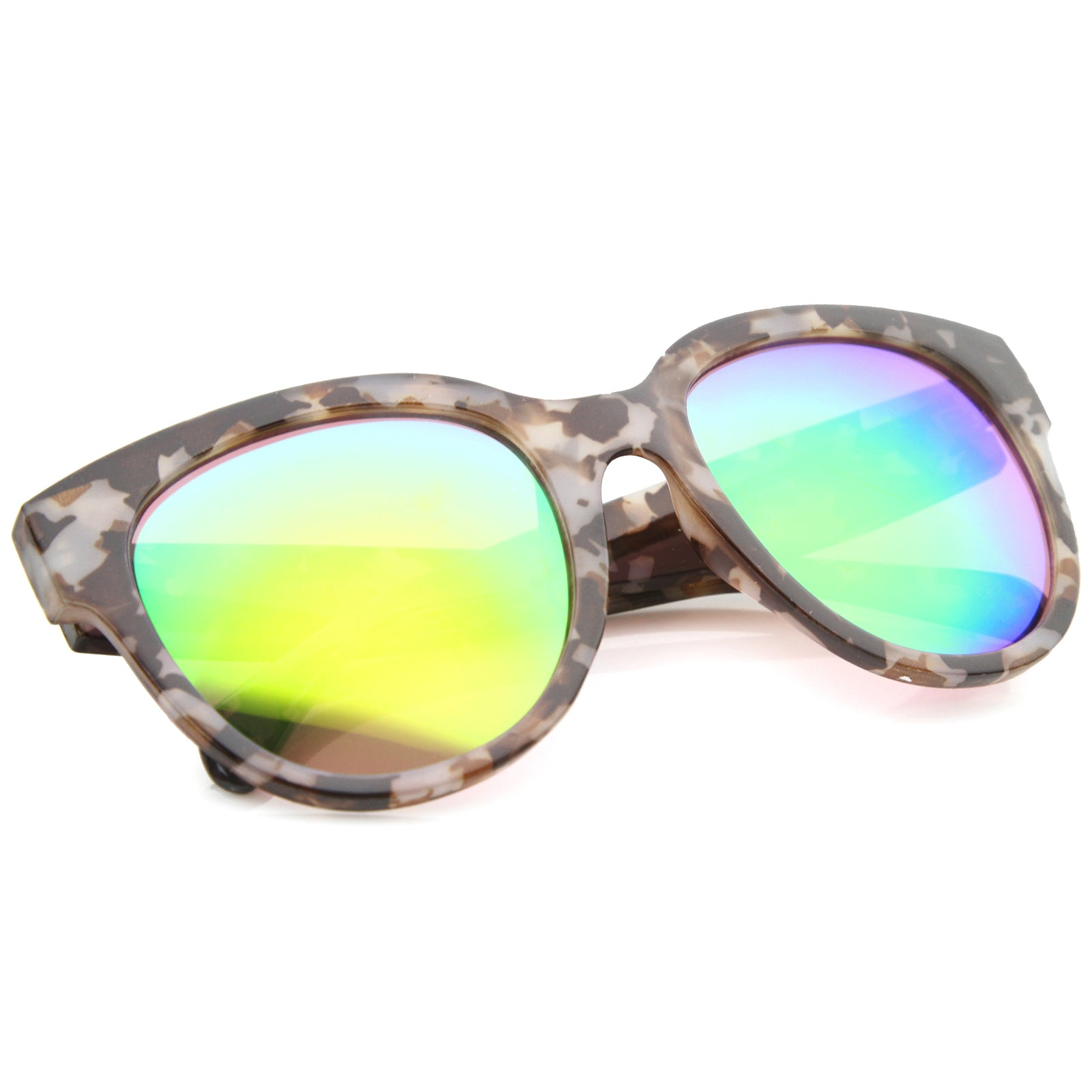 Womens Cat Eye Sunglasses With UV400 Protected Mirrored Lens - sunglass.la - 8