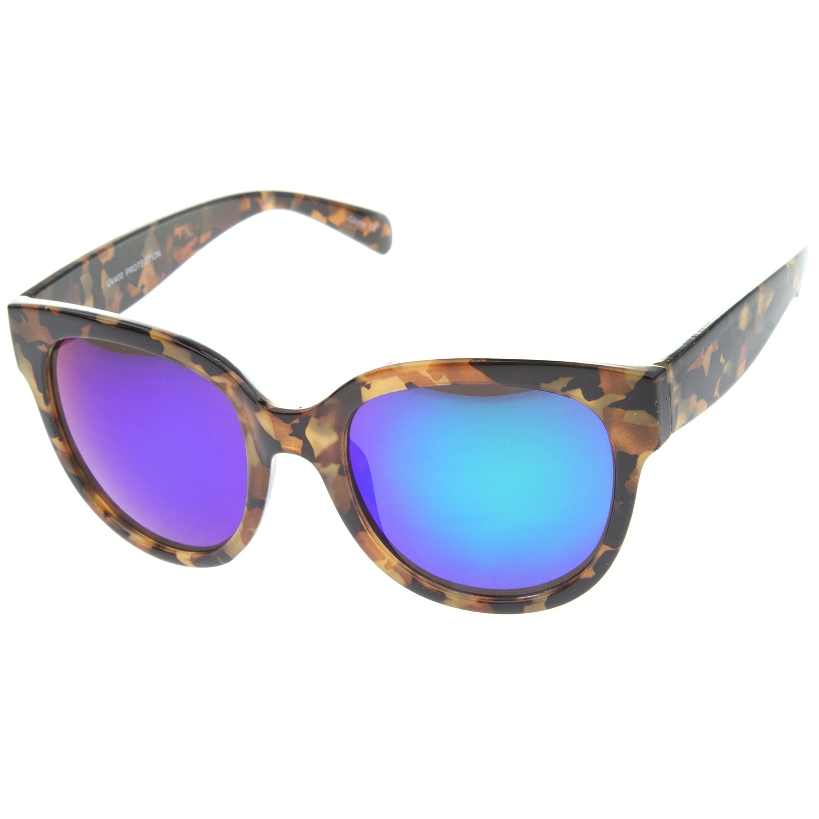 Womens Cat Eye Sunglasses With UV400 Protected Mirrored Lens - sunglass.la - 10