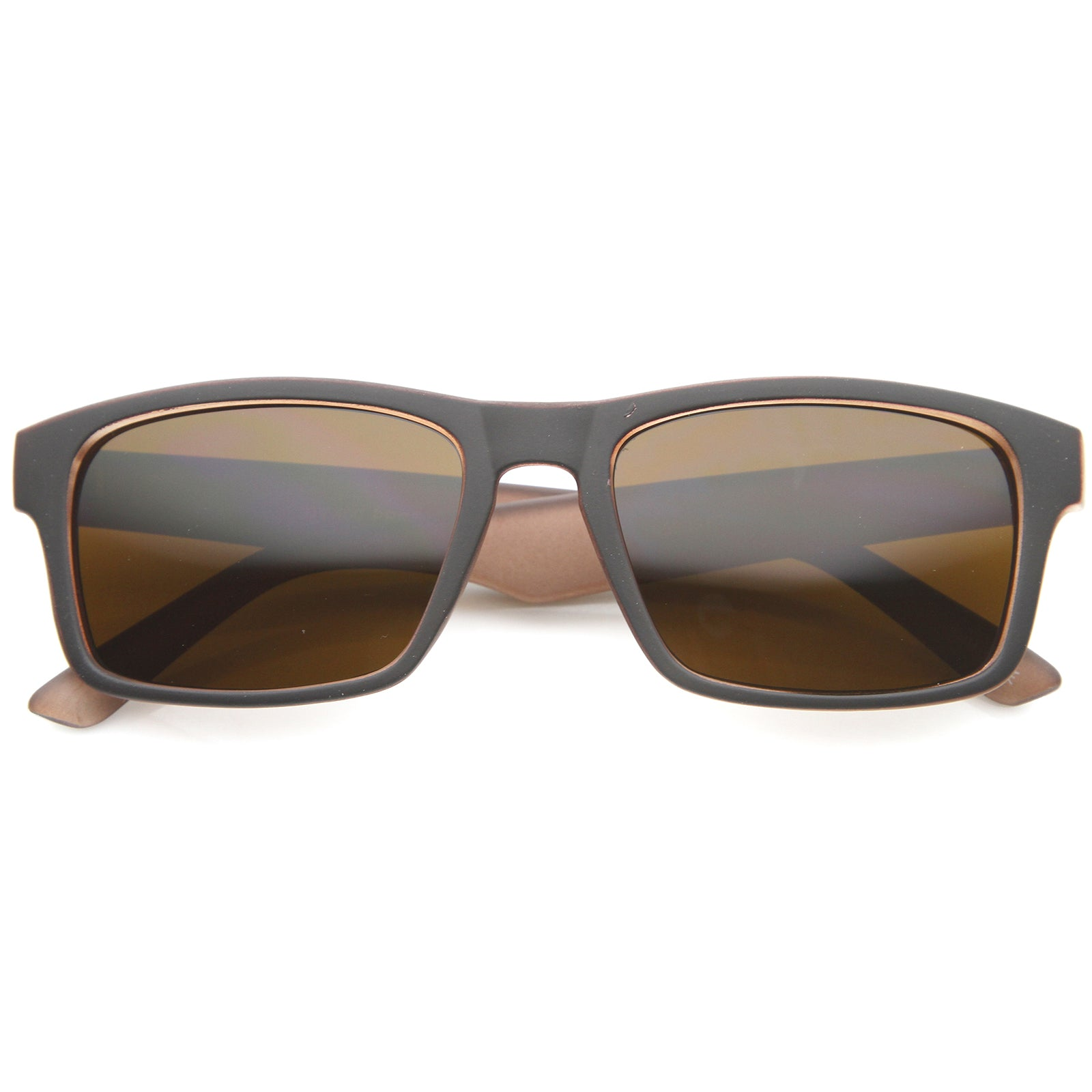 Mens Horn Rimmed Sunglasses With UV400 Protected Composite Lens - sunglass.la - 5
