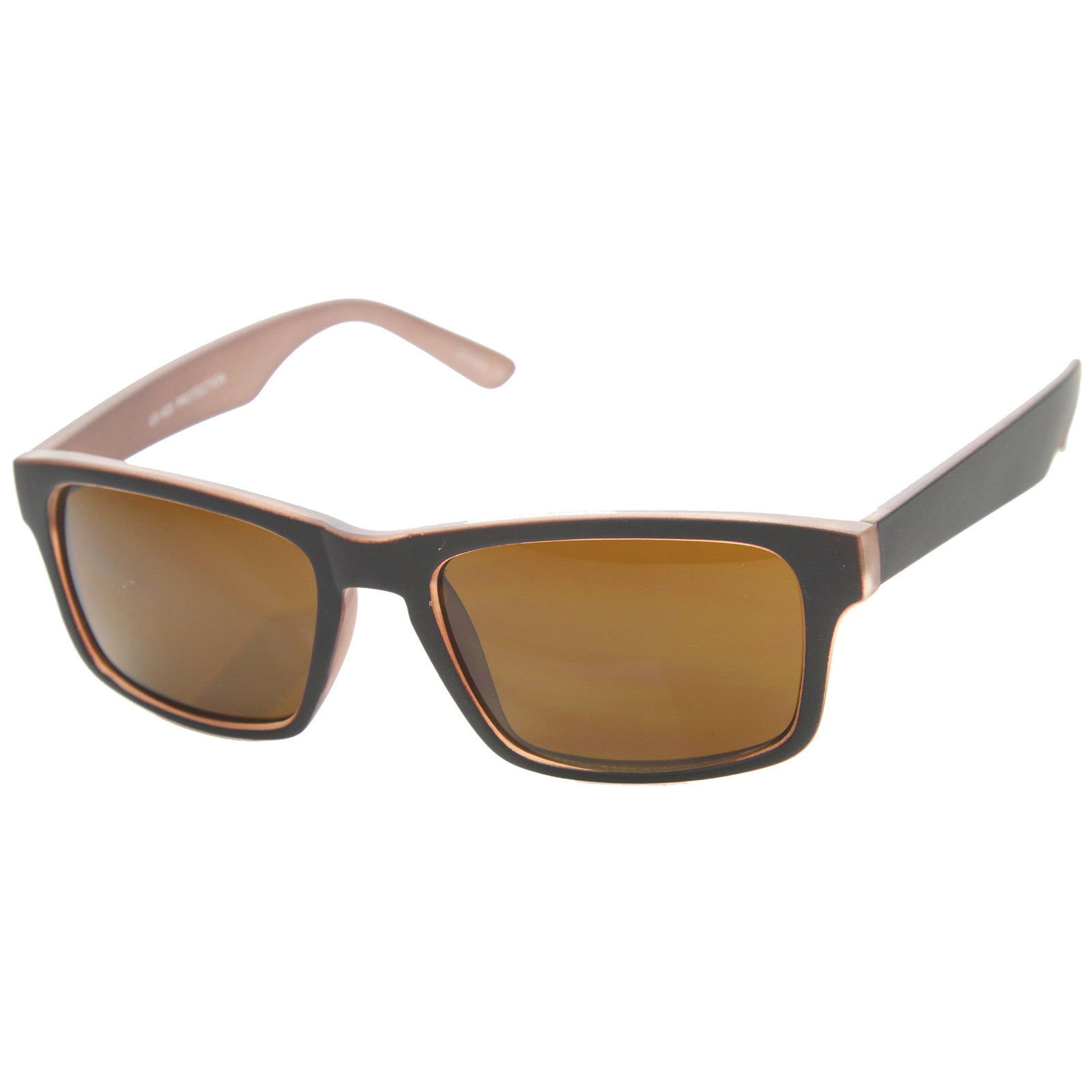 Mens Horn Rimmed Sunglasses With UV400 Protected Composite Lens - sunglass.la - 6