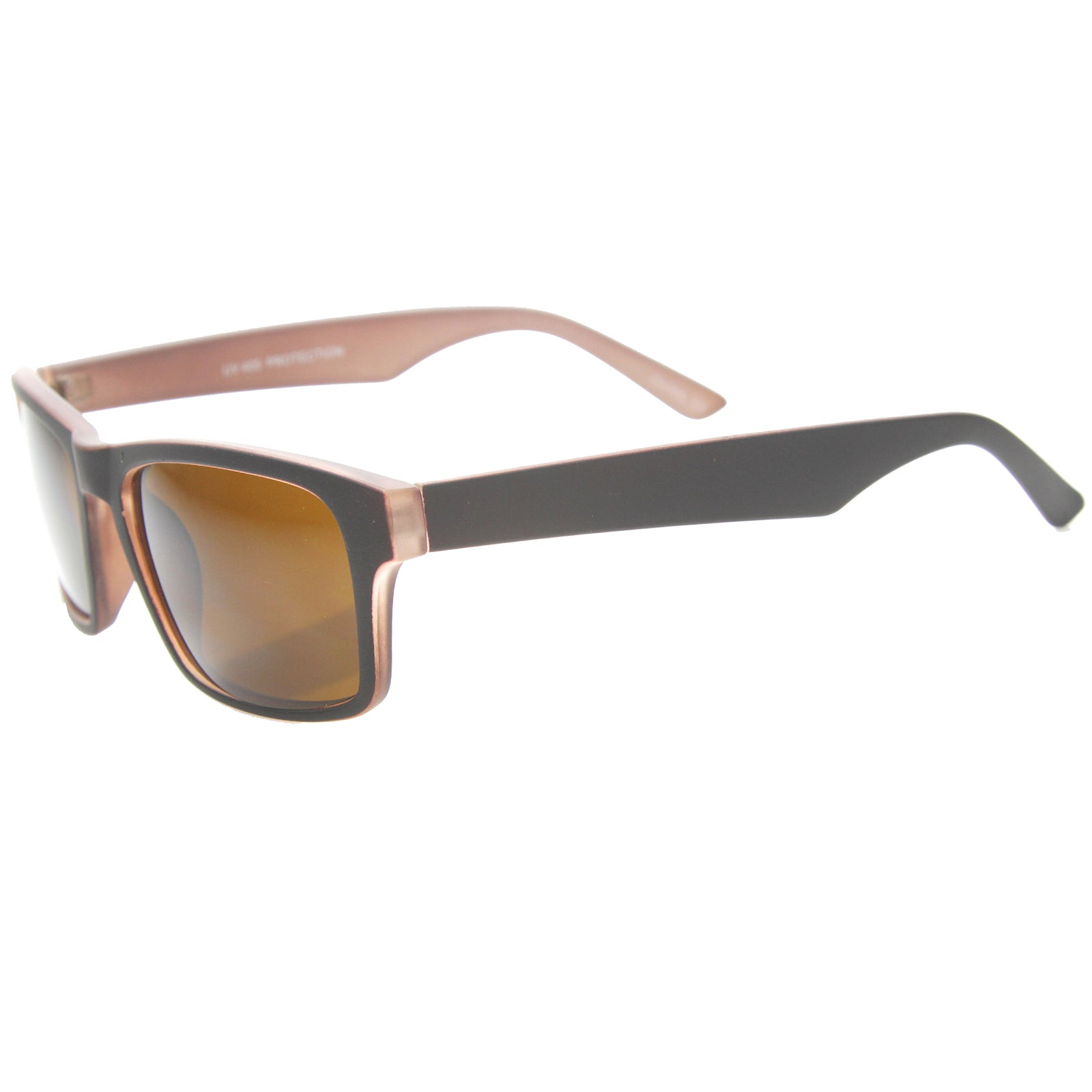 Mens Horn Rimmed Sunglasses With UV400 Protected Composite Lens - sunglass.la - 7