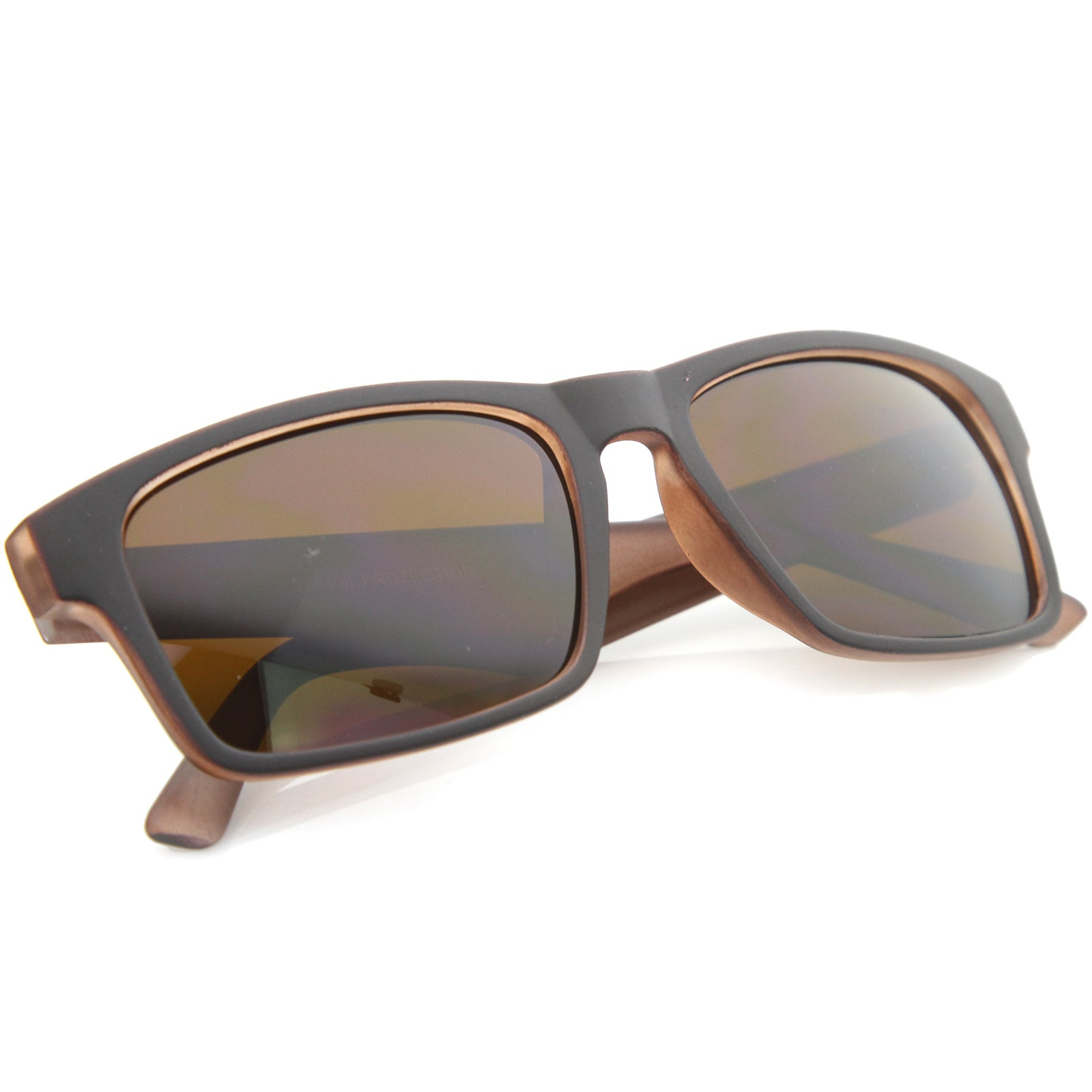 Mens Horn Rimmed Sunglasses With UV400 Protected Composite Lens - sunglass.la - 8