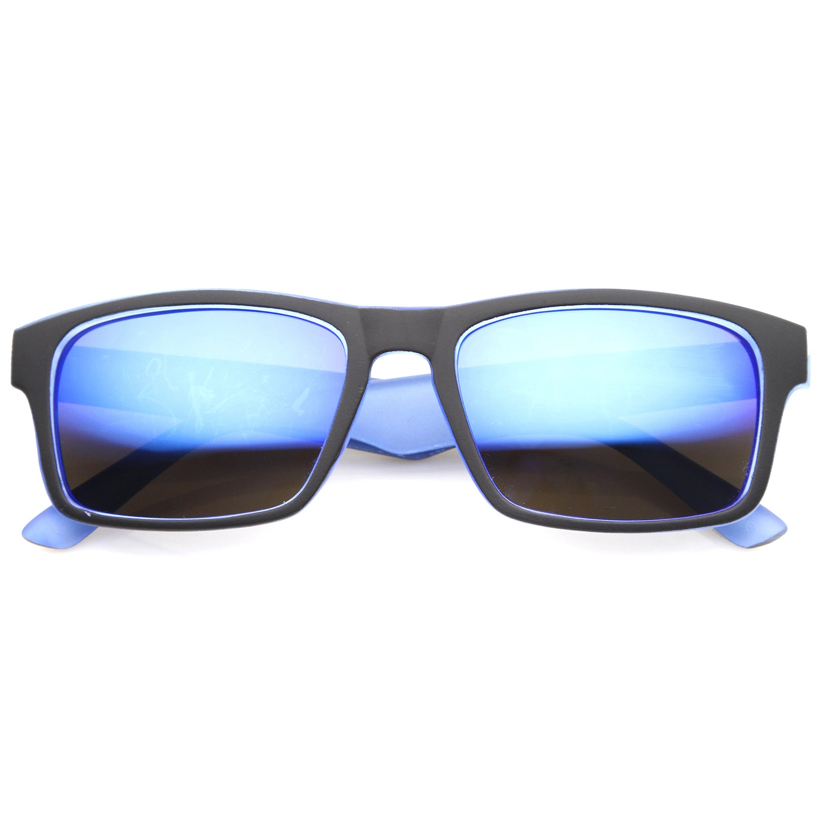 Mens Sport Sunglasses With UV400 Protected Mirrored Lens - sunglass.la - 5