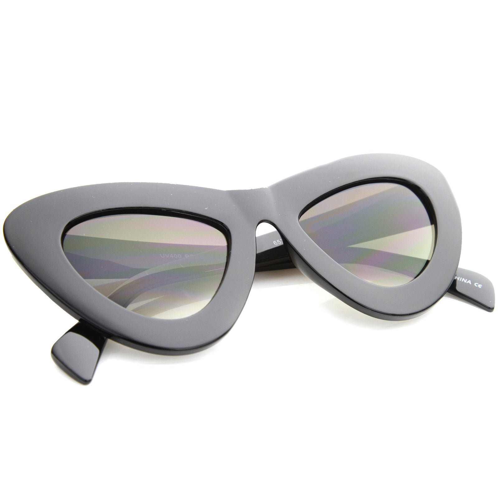 Womens Cat Eye Sunglasses With UV400 Protected Composite Lens - sunglass.la - 4