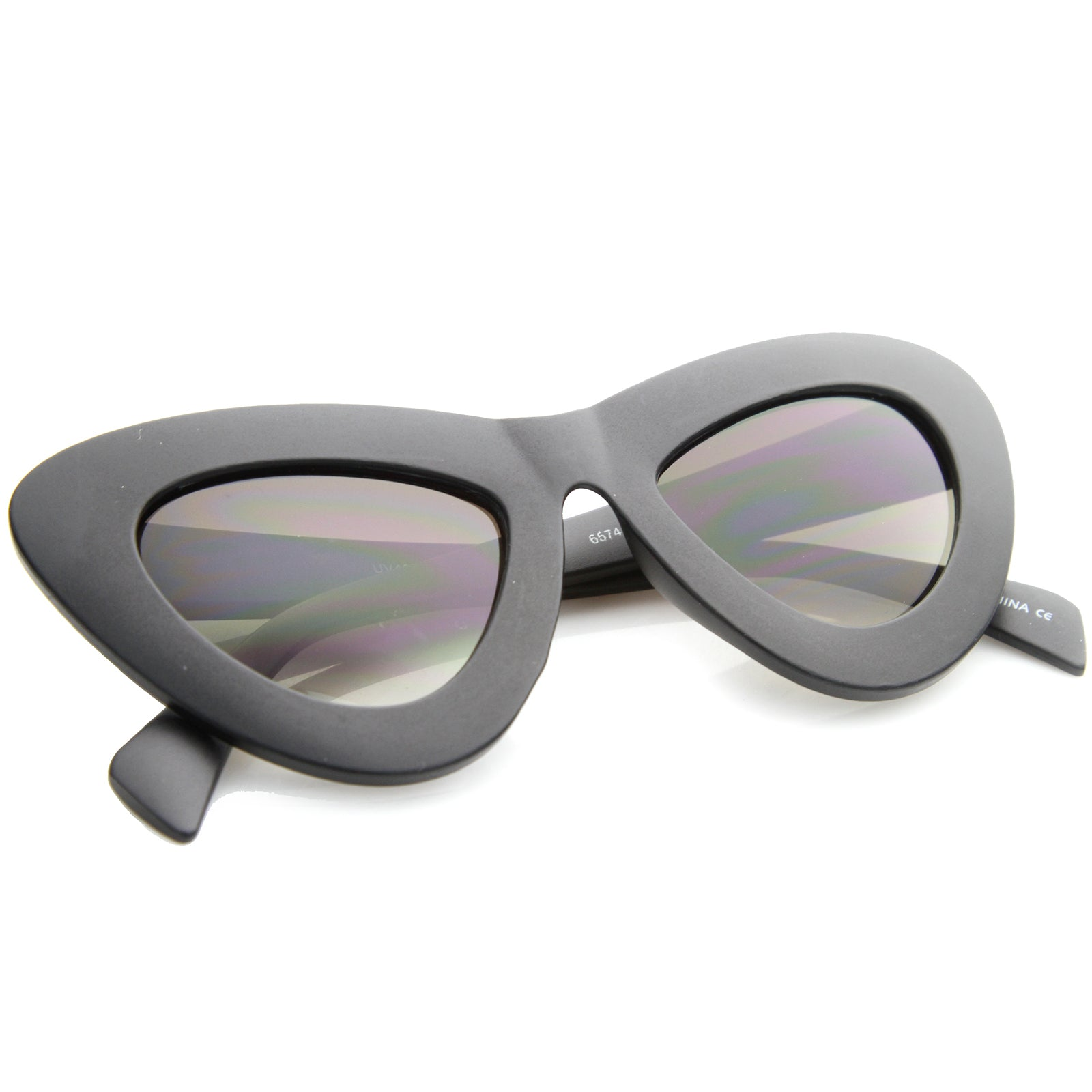 Womens Cat Eye Sunglasses With UV400 Protected Composite Lens - sunglass.la - 16