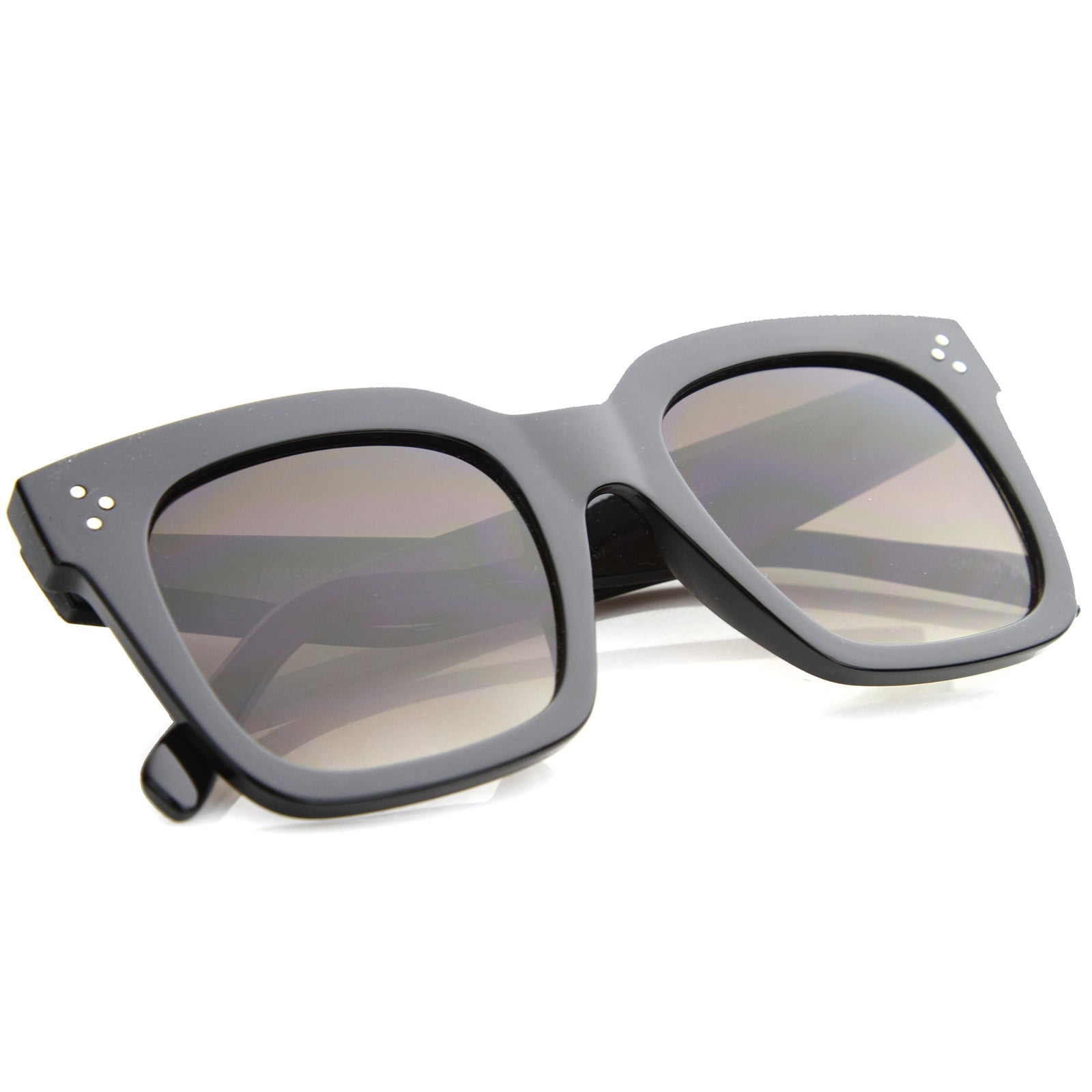Womens Horn Rimmed Sunglasses With UV400 Protected Gradient Lens - sunglass.la - 12