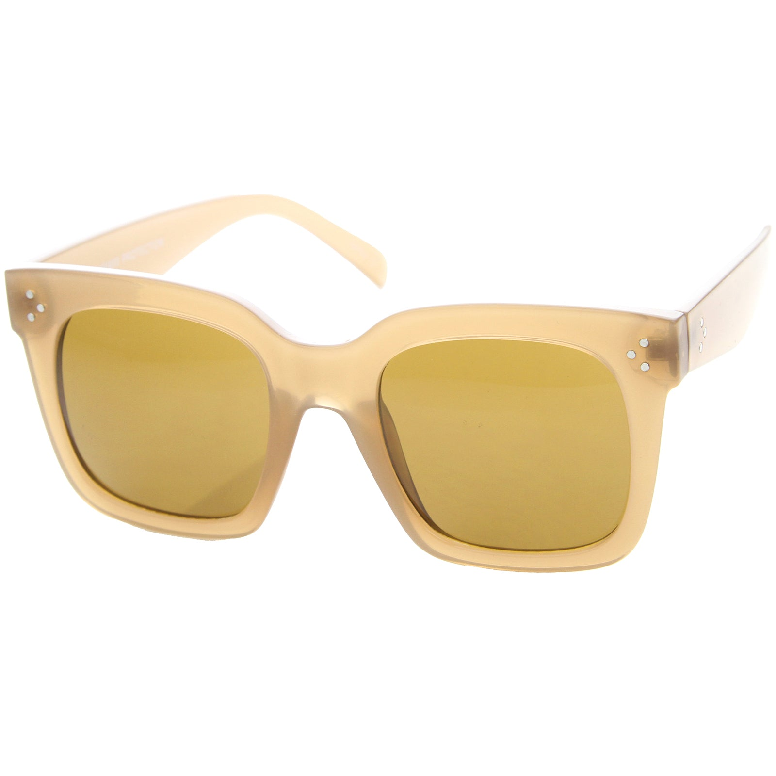 Womens Horn Rimmed Sunglasses With UV400 Protected Gradient Lens - sunglass.la - 14
