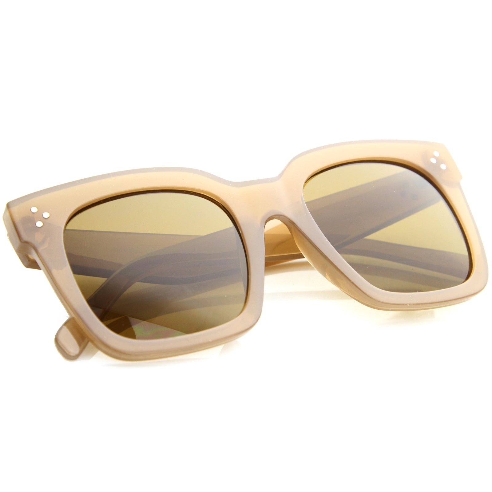 Womens Horn Rimmed Sunglasses With UV400 Protected Gradient Lens - sunglass.la - 16