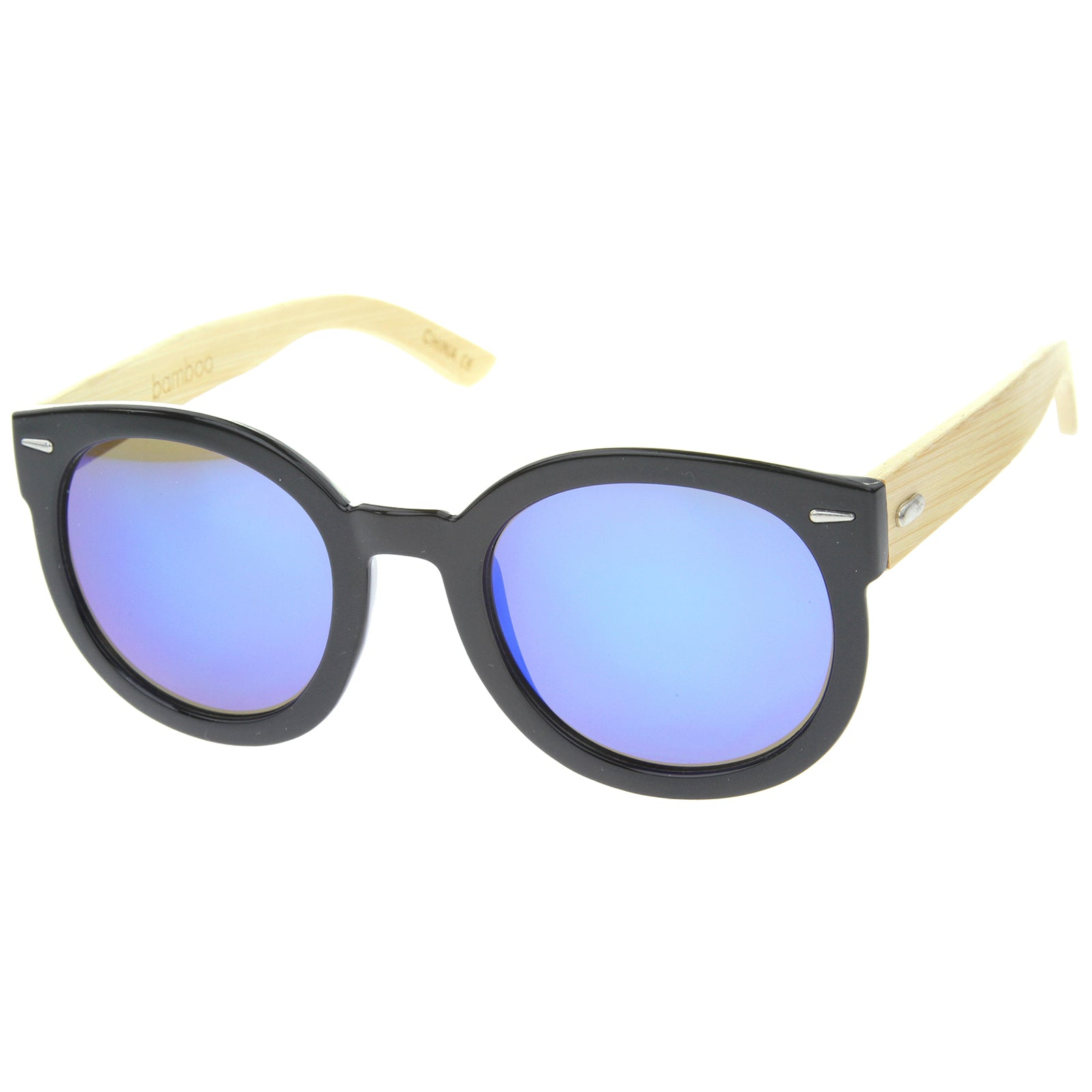 Womens Oversized Sunglasses With UV400 Protected Mirrored Lens - sunglass.la - 2