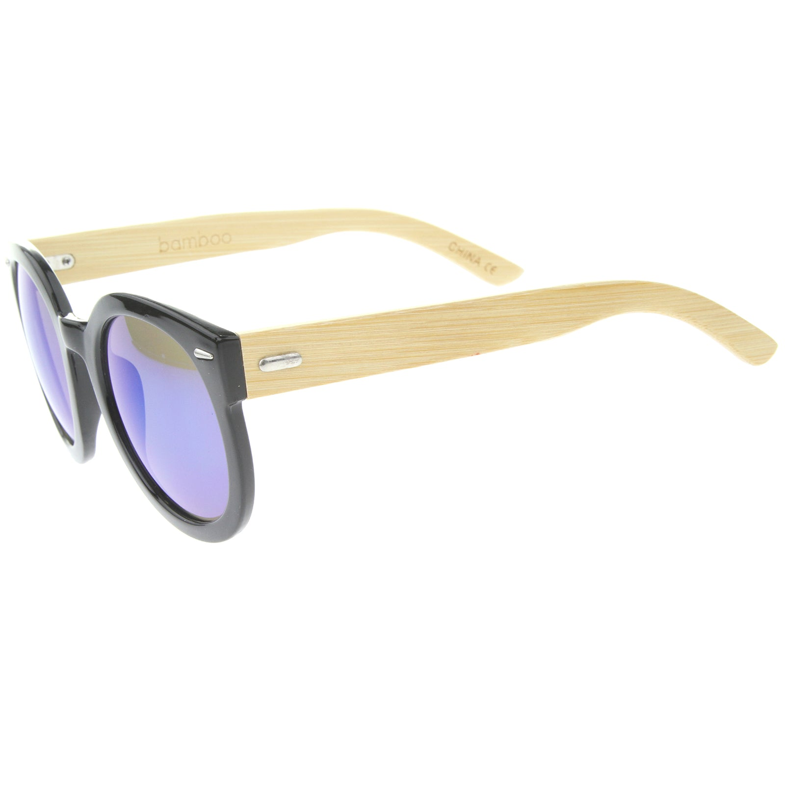 Womens Oversized Sunglasses With UV400 Protected Mirrored Lens - sunglass.la - 3