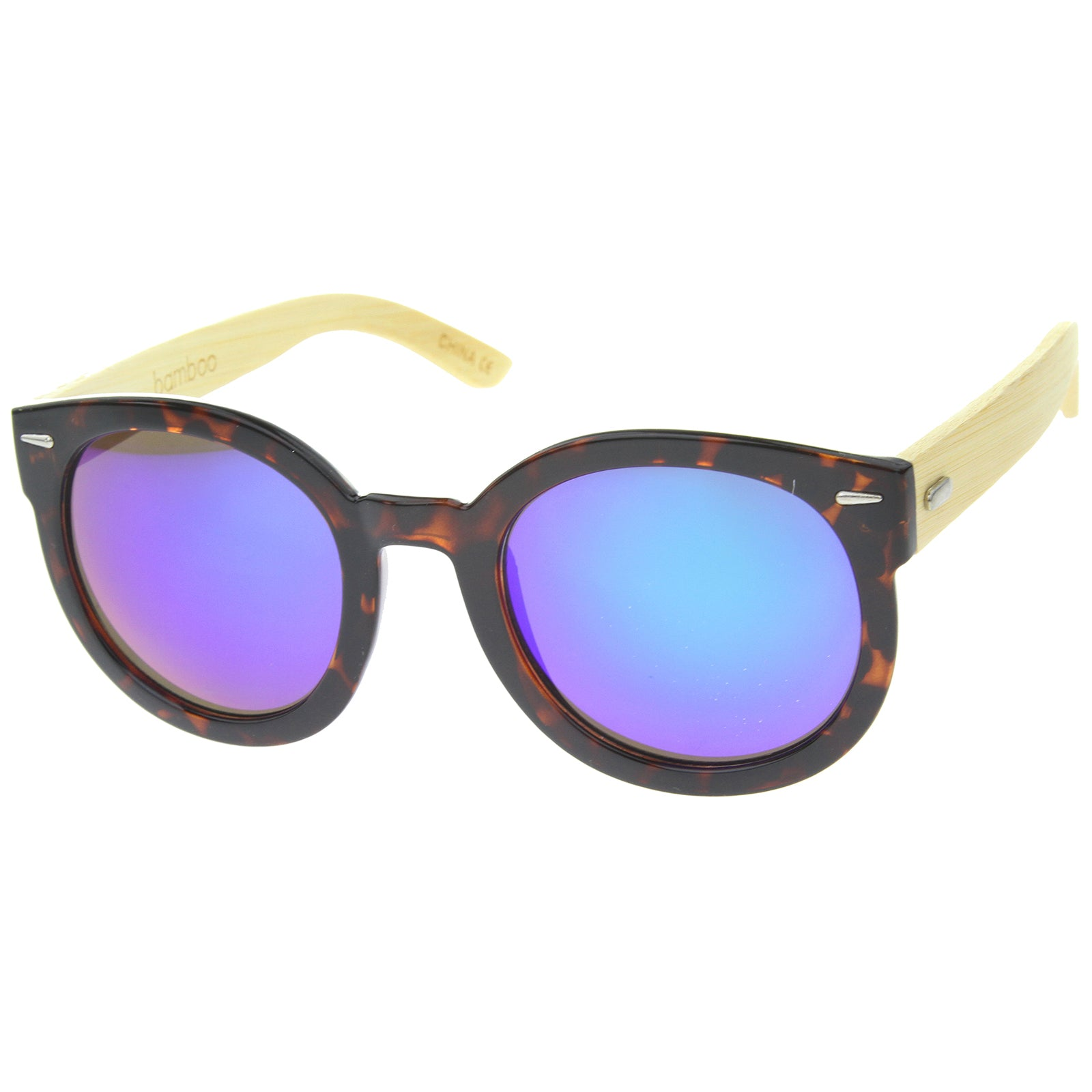 Womens Oversized Sunglasses With UV400 Protected Mirrored Lens - sunglass.la - 14