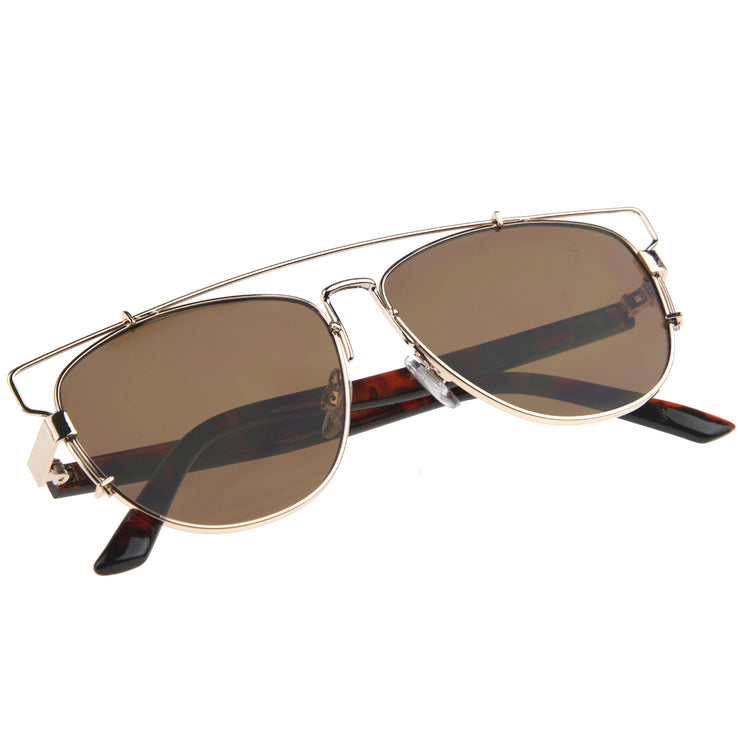 Gold-Tortoise / Brown Sunglasses