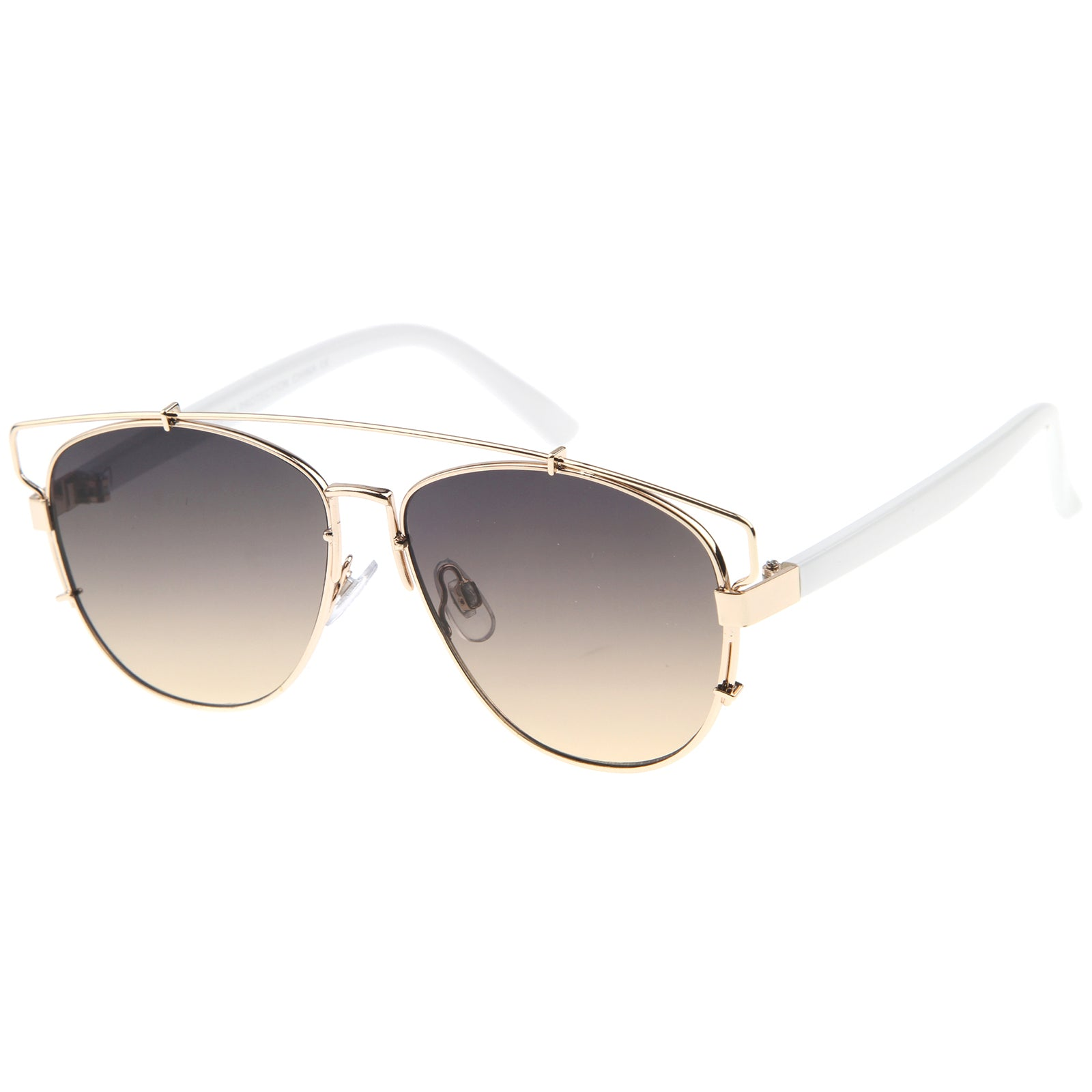 Gold-White / Grey Gradient Sunglasses