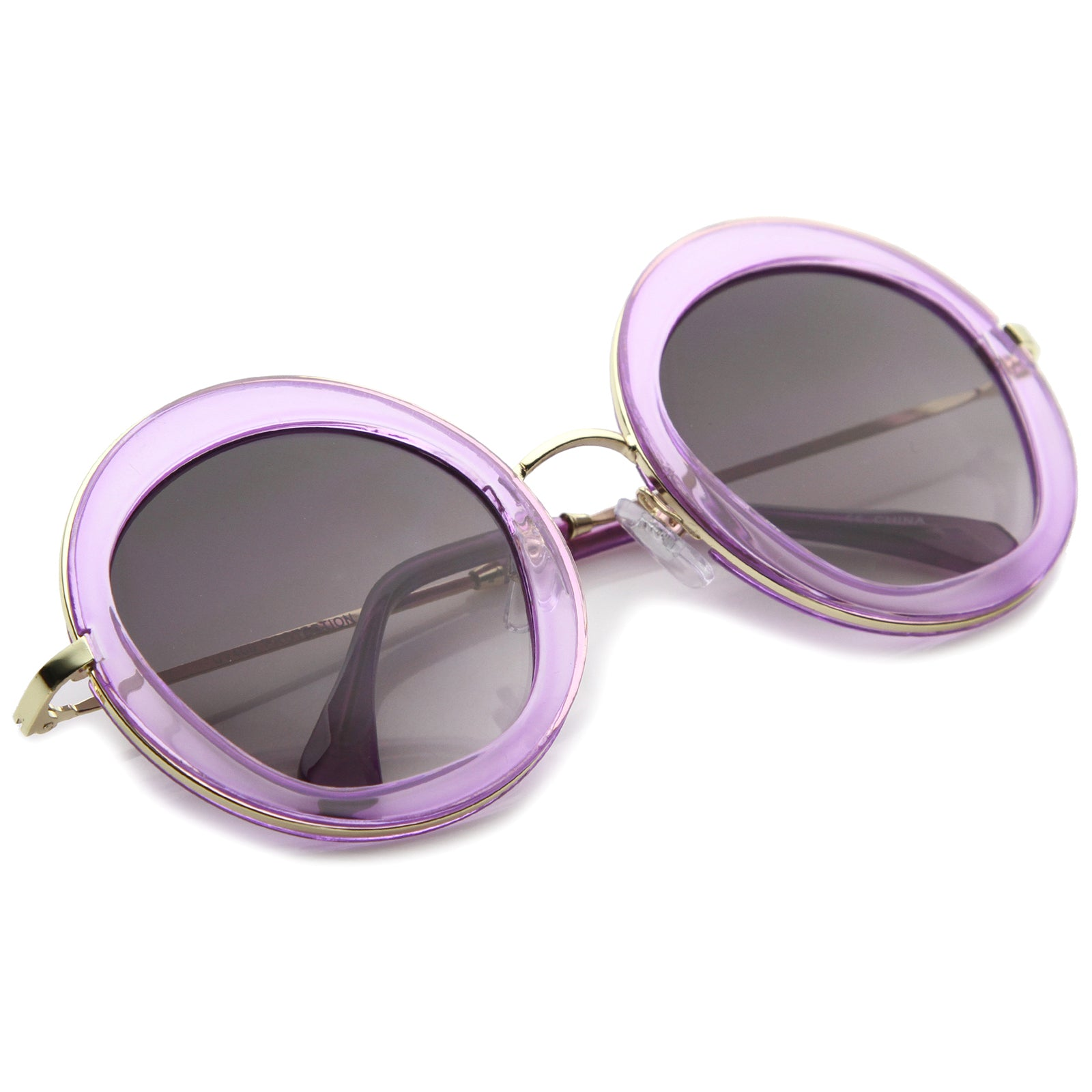 Womens Round Sunglasses With UV400 Protected Gradient Lens - sunglass.la - 20