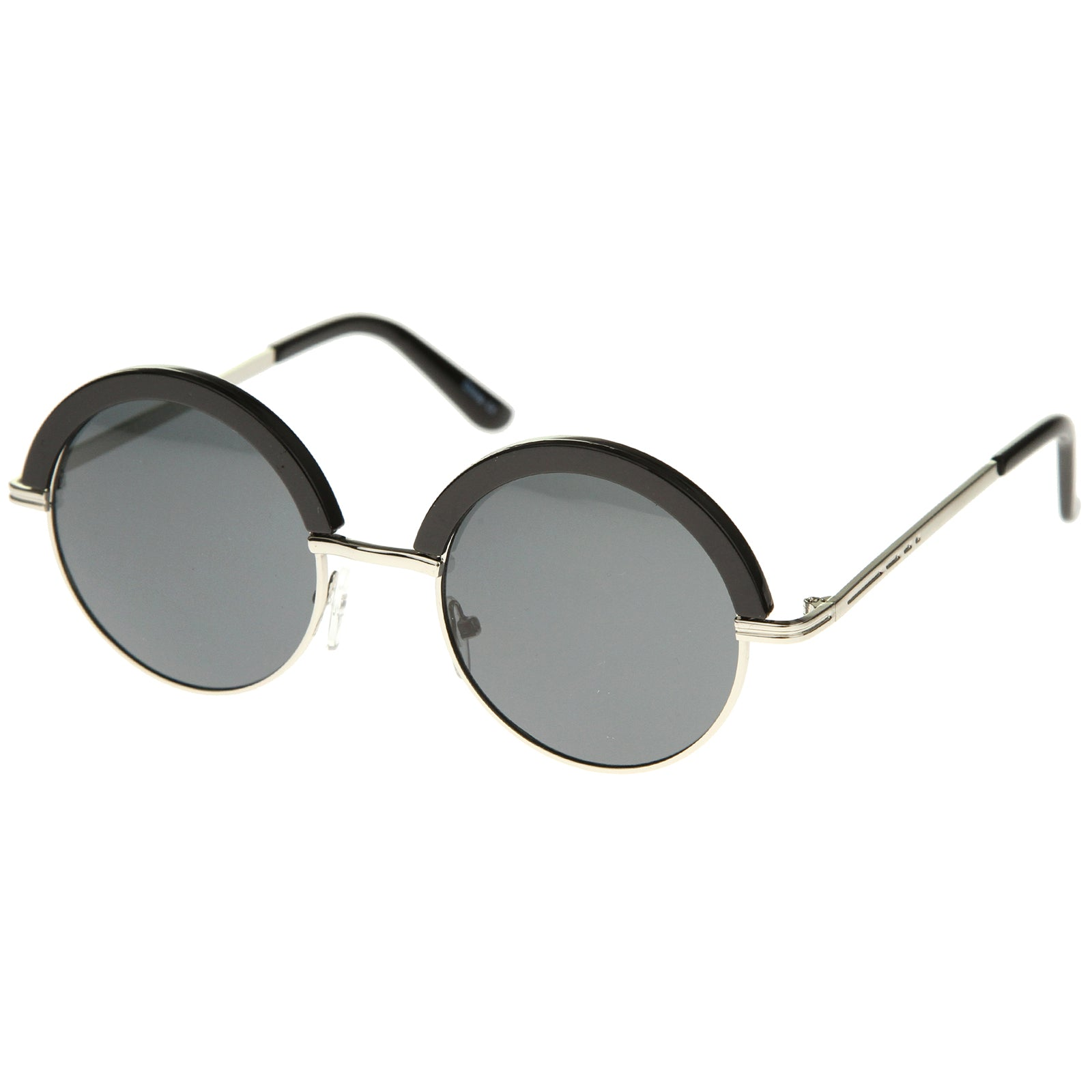 Womens Metal Round Sunglasses With UV400 Protected Composite Lens - sunglass.la - 10