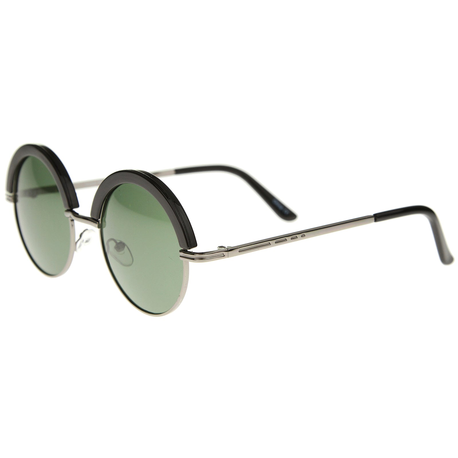 Womens Metal Round Sunglasses With UV400 Protected Composite Lens - sunglass.la - 15