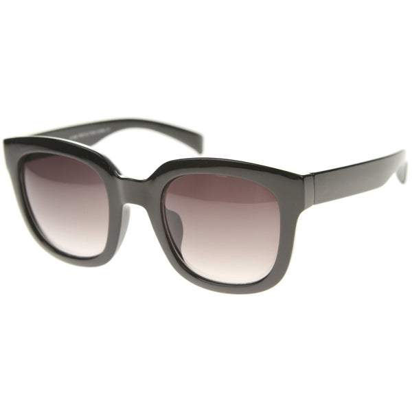 Contemporary Oversize Chunky Horn Rimmed Tinted Lens Square Sunglasses 53mm - sunglass.la