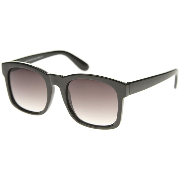 Classic Oversized Bold Horn-Rimmed Frame Square Sunglasses 53mm - sunglass.la