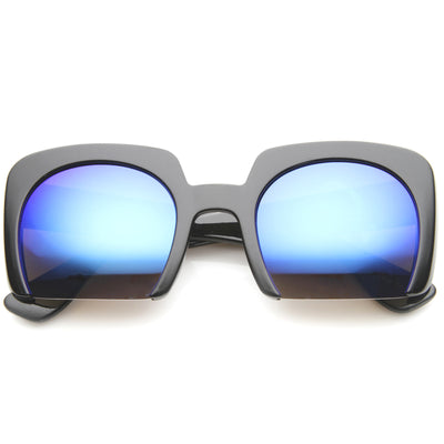 Shiny Black / Blue Mirror