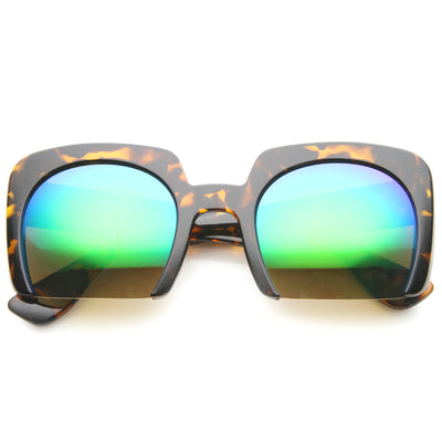 Brown Tortoise / Green Blue Mirror
