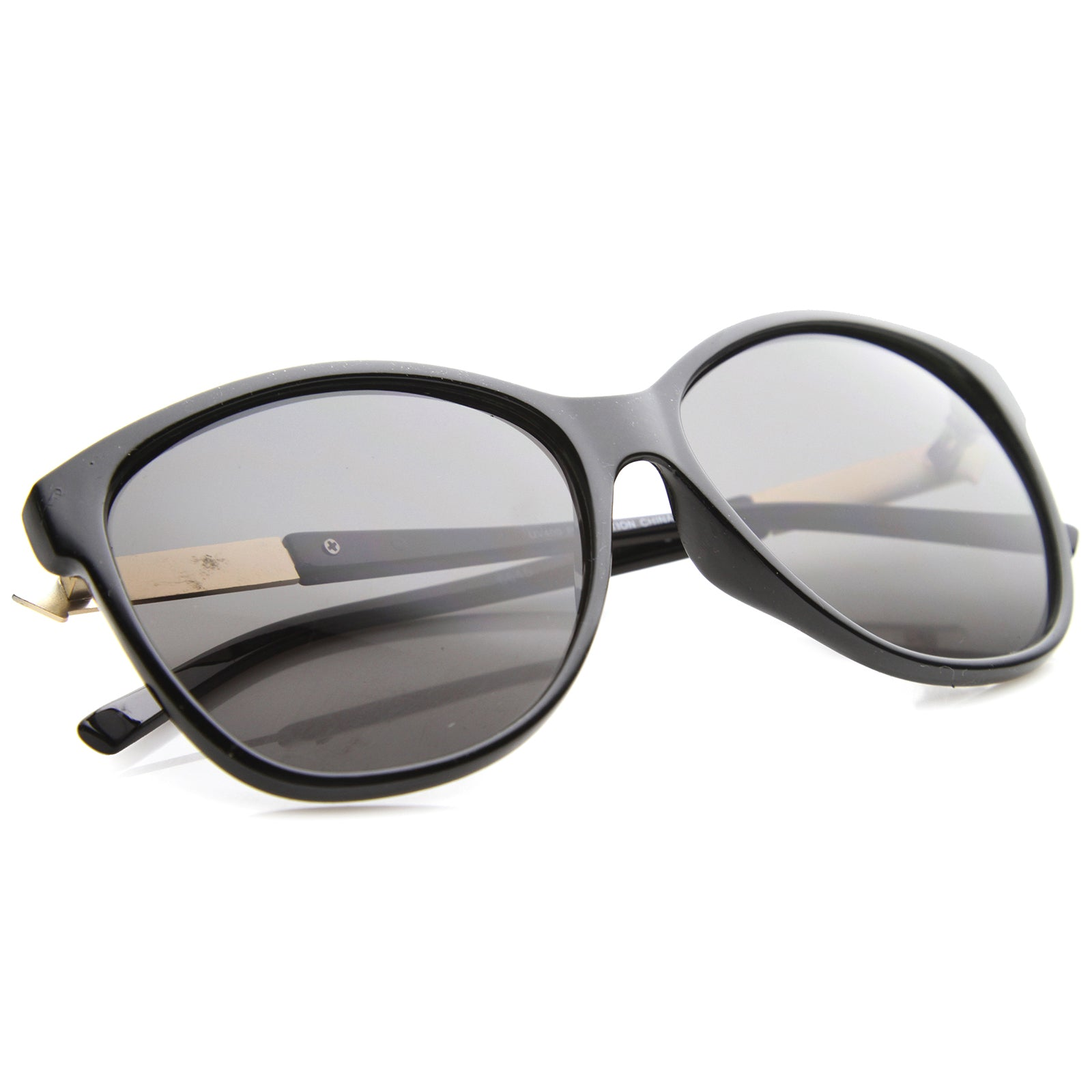Women's Glam Fashion Metal Temple Oversize Cat Eye Sunglasses 59mm - sunglass.la - 4