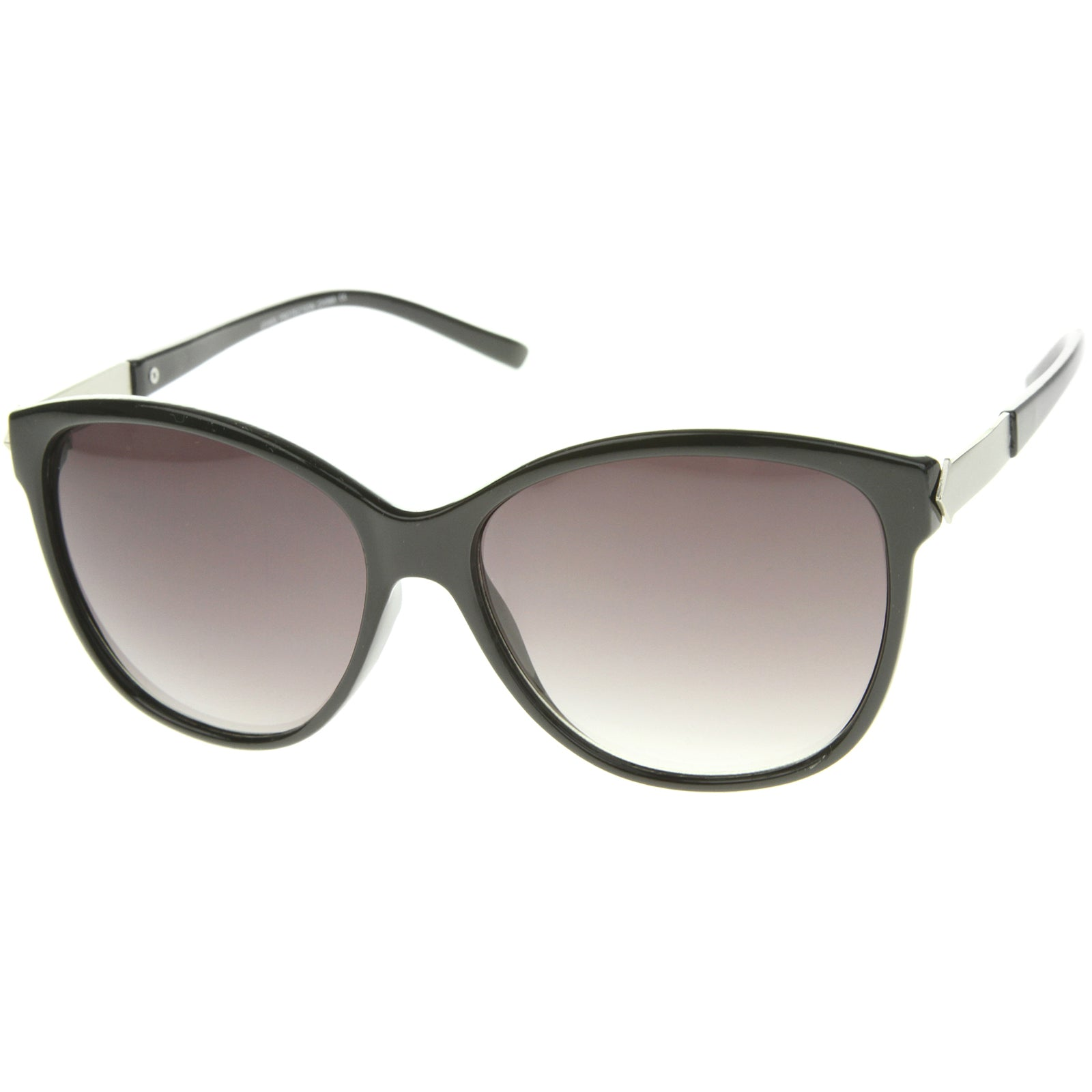 Women's Glam Fashion Metal Temple Oversize Cat Eye Sunglasses 59mm - sunglass.la - 6