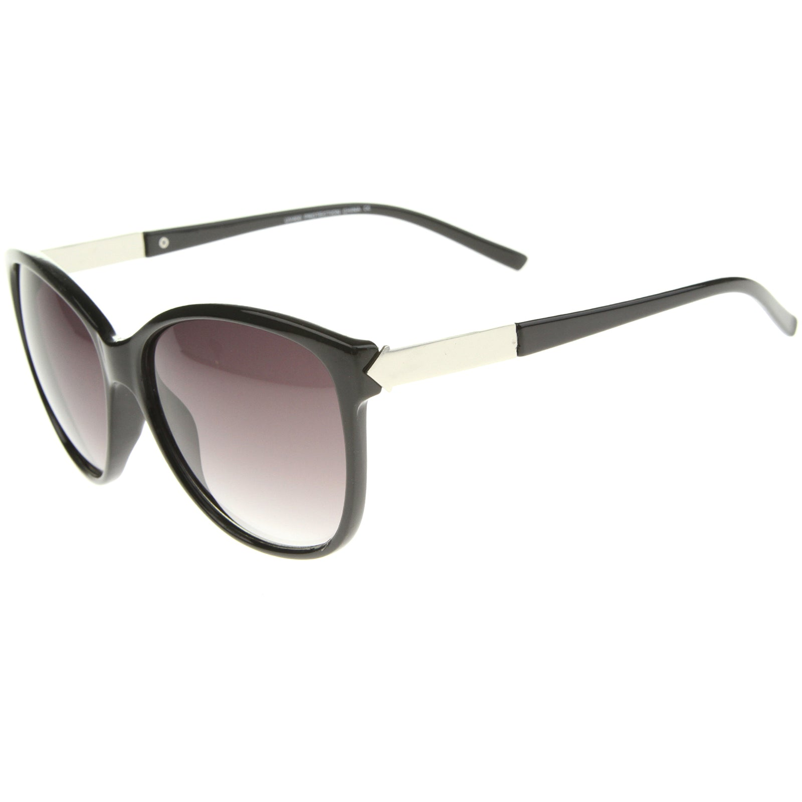 Women's Glam Fashion Metal Temple Oversize Cat Eye Sunglasses 59mm - sunglass.la - 7