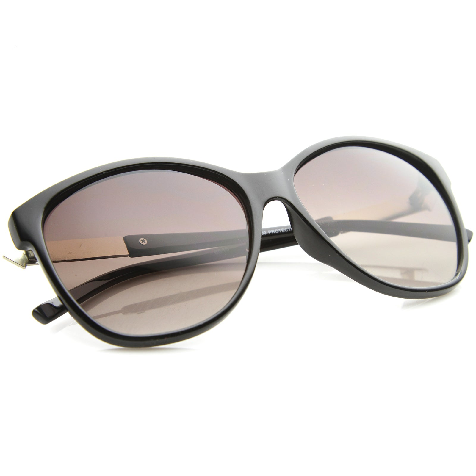 Women's Glam Fashion Metal Temple Oversize Cat Eye Sunglasses 59mm - sunglass.la - 8
