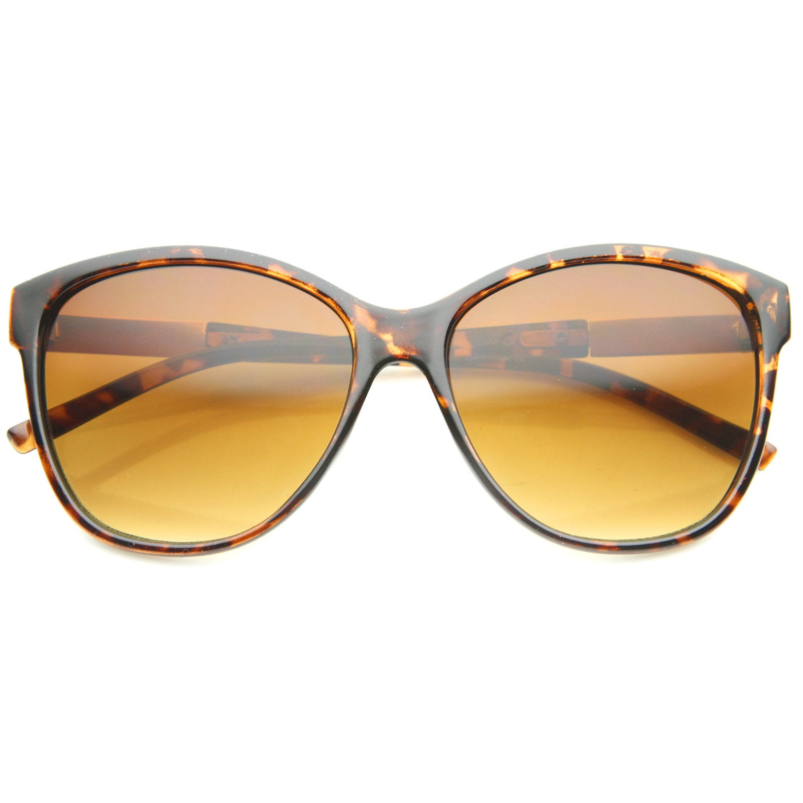 Women's Glam Fashion Metal Temple Oversize Cat Eye Sunglasses 59mm - sunglass.la - 9