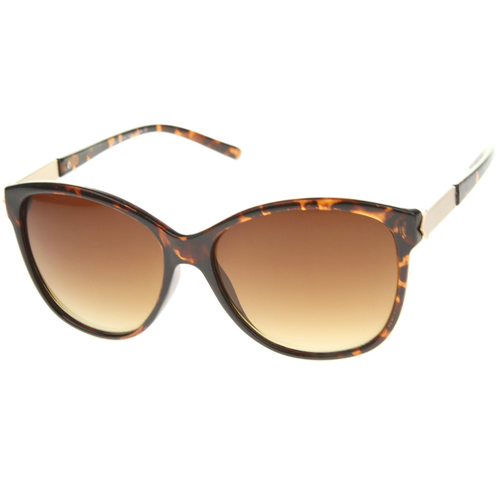 Women's Glam Fashion Metal Temple Oversize Cat Eye Sunglasses 59mm - sunglass.la - 10