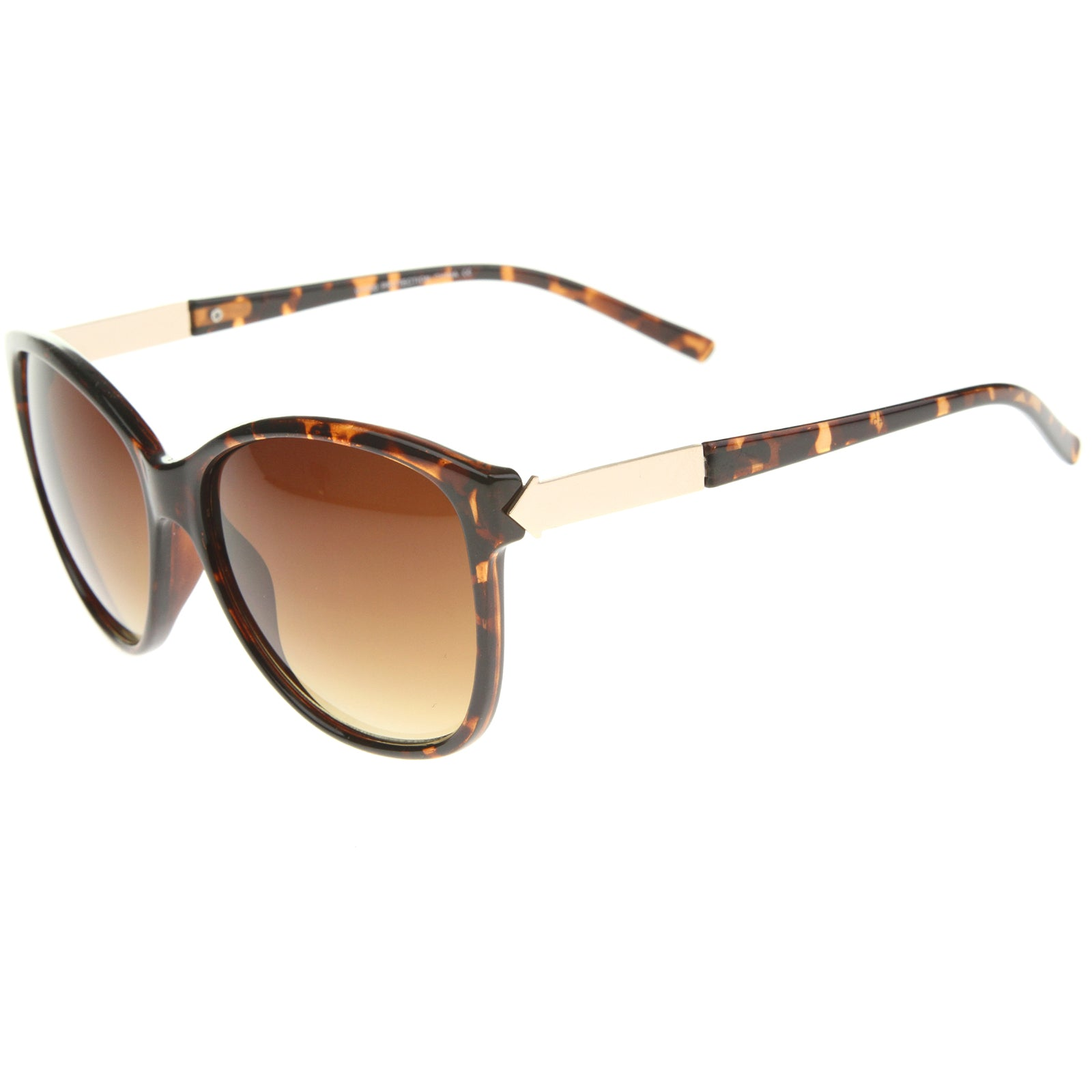 Women's Glam Fashion Metal Temple Oversize Cat Eye Sunglasses 59mm - sunglass.la - 11
