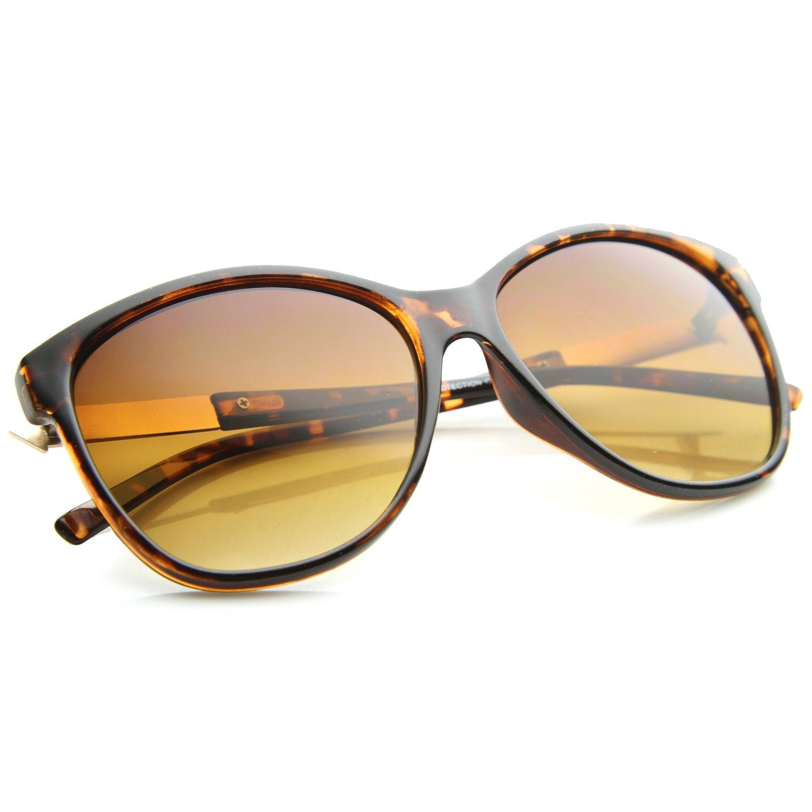 Women's Glam Fashion Metal Temple Oversize Cat Eye Sunglasses 59mm - sunglass.la - 12