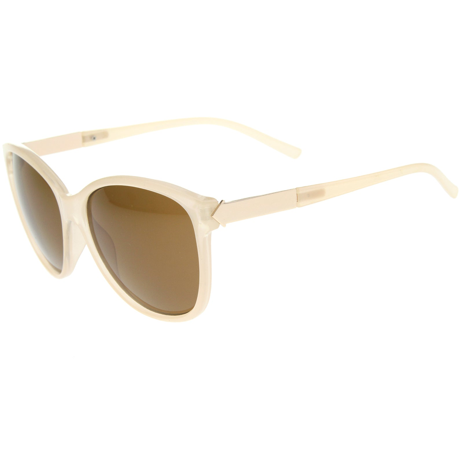 Women's Glam Fashion Metal Temple Oversize Cat Eye Sunglasses 59mm - sunglass.la - 15